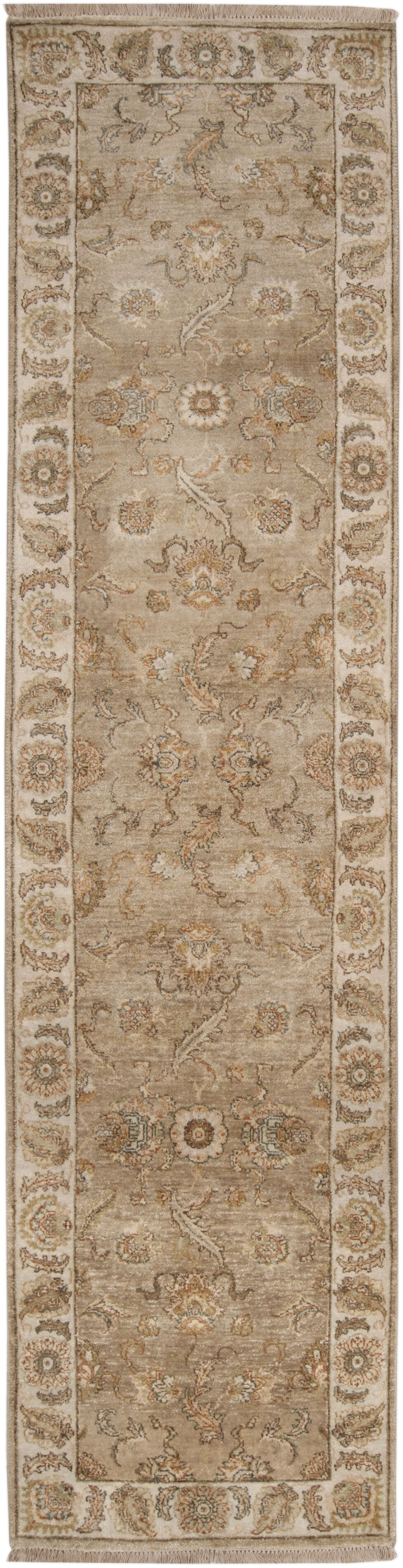 Harrell Hand-Knotted Brown Area Rug Rug Size: Rectangle 3'9