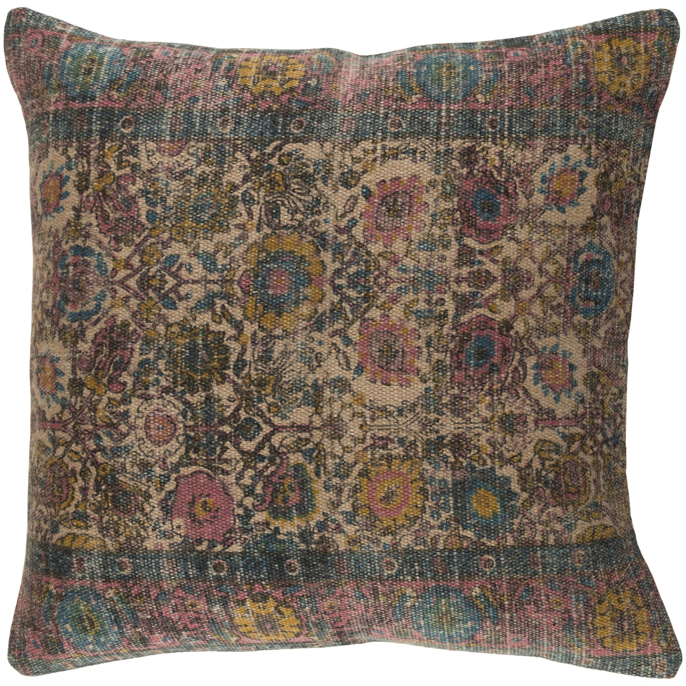 Arch Hill Throw Pillow Color: Black, Size: 22