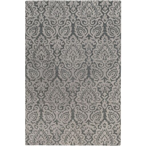 Russellville Hand-Hooked Gray Area Rug Rug Size: Rectangle 5' x 7'6