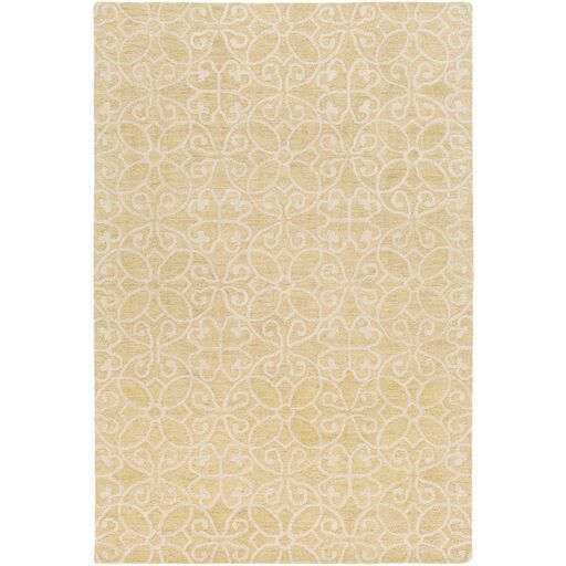Russellville Hand-Hooked Yellow/Neutral Area Rug Rug Size: Rectangle 5' x 7'6