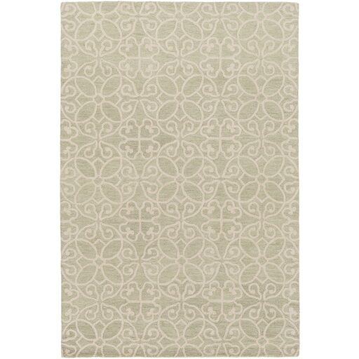 Russellville Hand-Hooked Green/Neutral Area Rug Rug Size: Rectangle 5' x 7'6