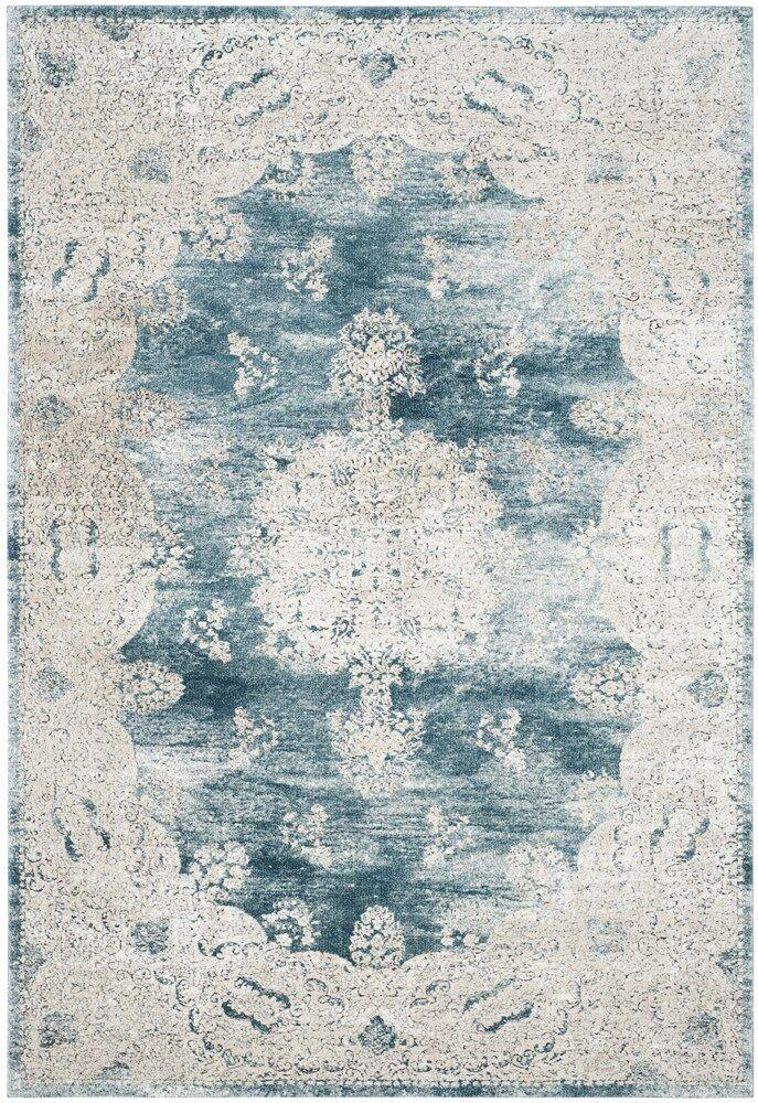 Prager Blue/Beige Area Rug Rug Size: Rectangle 9' x 12'