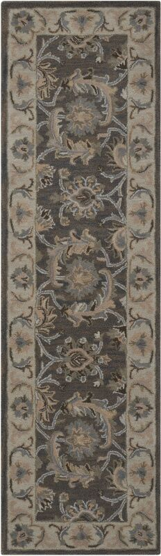 Poulos Hand-Tufted Gray Area Rug Rug Size: Rectangle 5'6