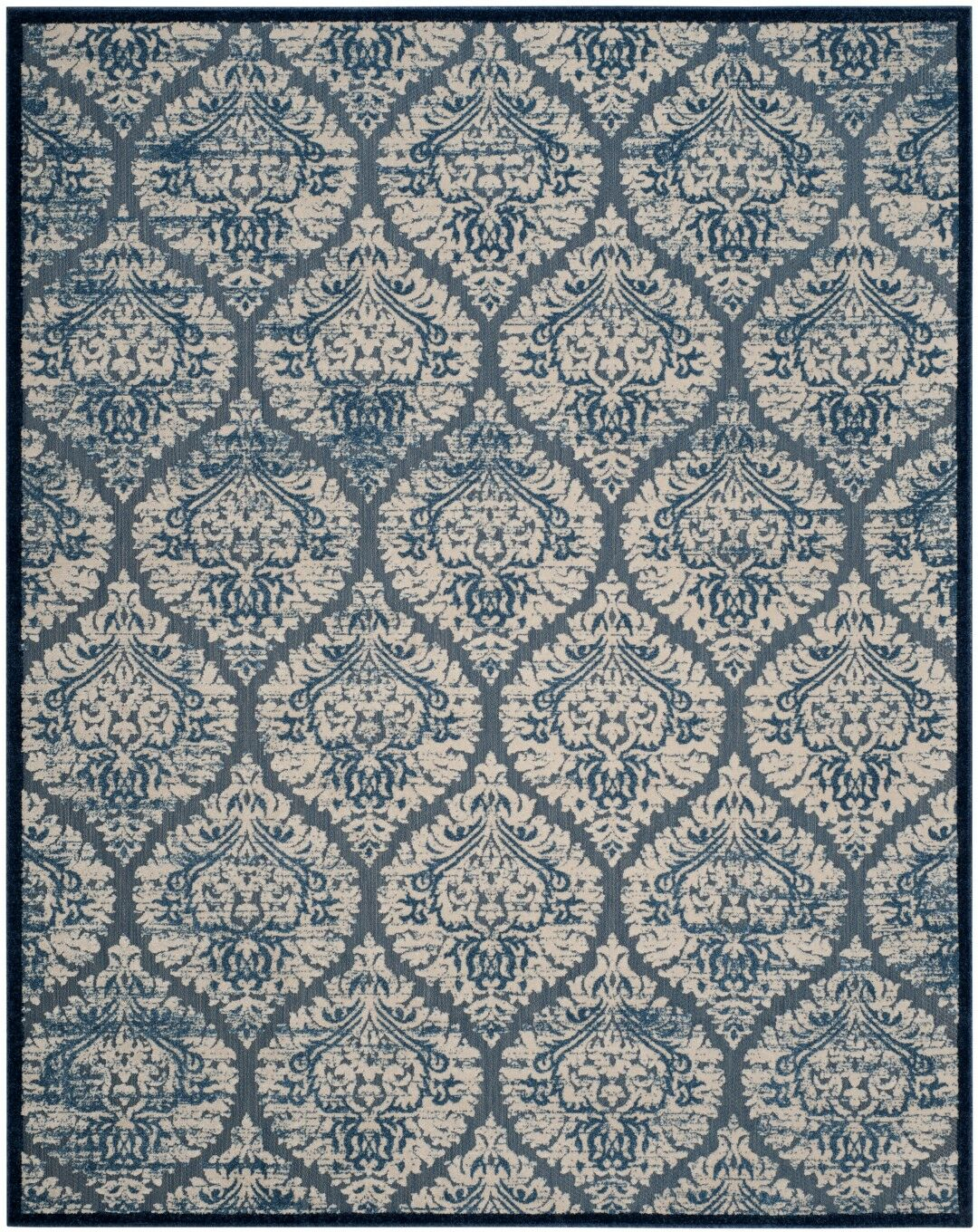 Parsons Blue/Cream Area Rug Rug Size: Rectangle 9' x 12'