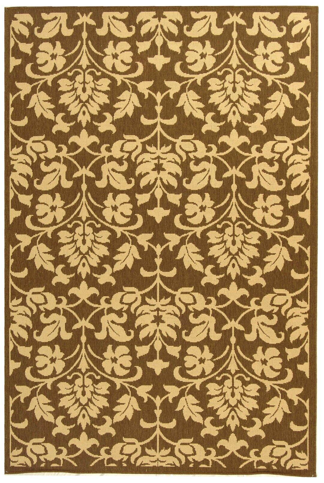 Beasley Brown/Natural Indoor/Outdoor Area Rug Rug Size: Rectangle 8' x 11'