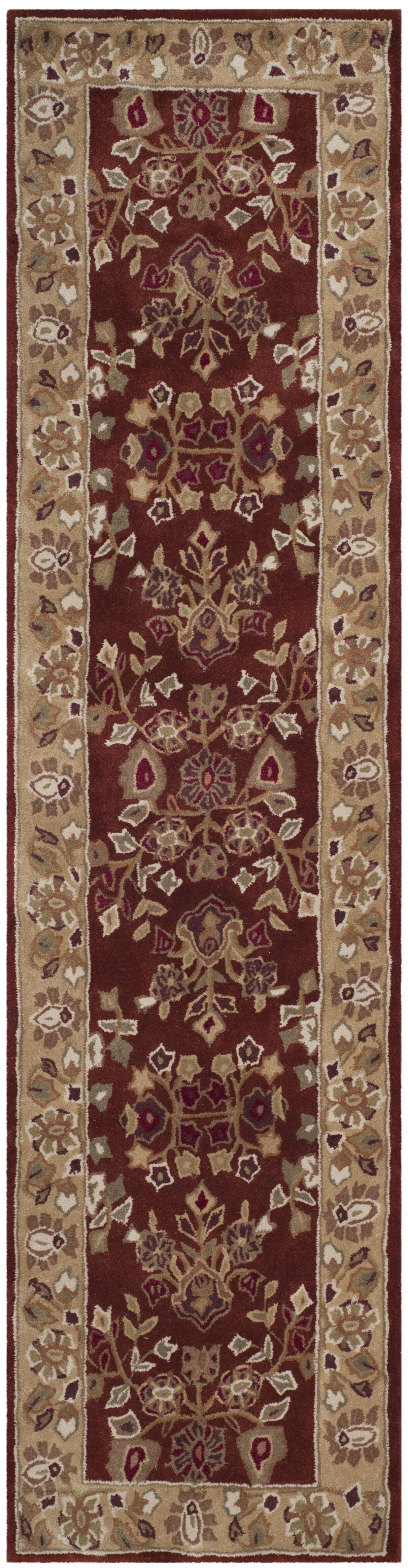 Marin Hand-Hooked Brown/Red Area Rug Rug Size: Rectangle 8' x 10'