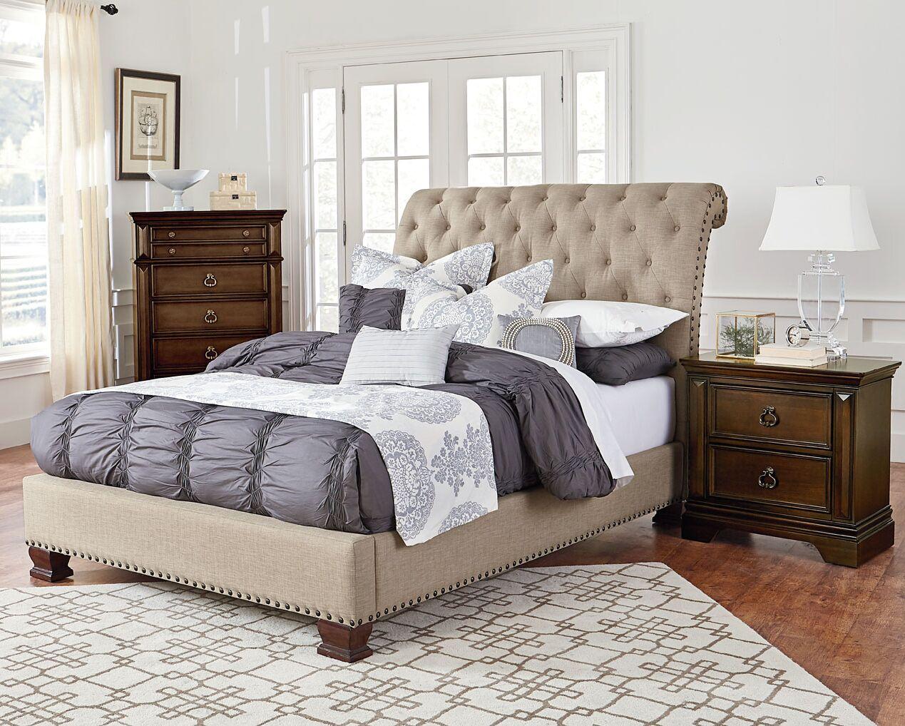 Parthena Upholstered Platform Bed