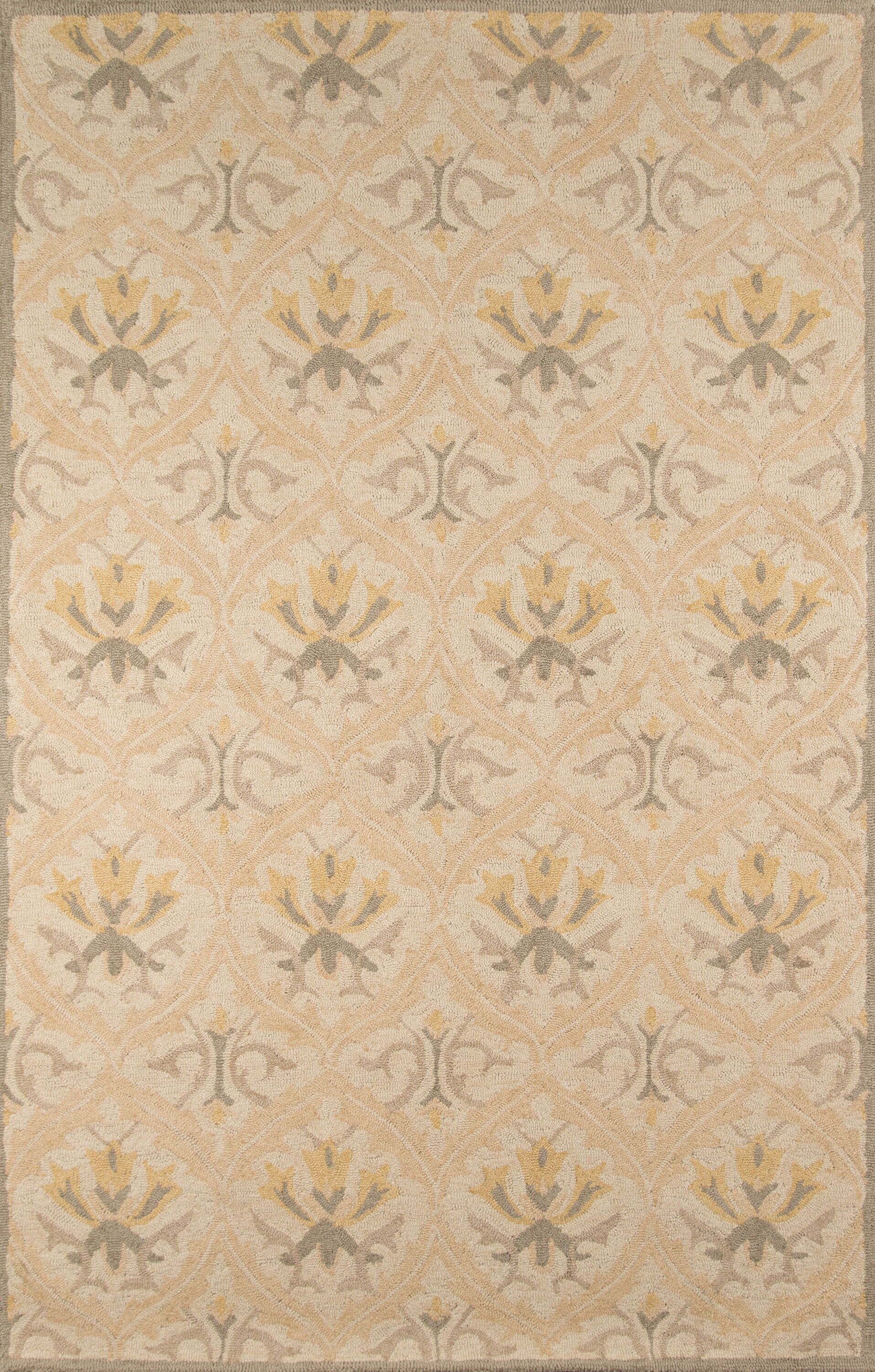 Suzanne Hand-Tufted Beige Area Rug Rug Size: Rectangle 3'9