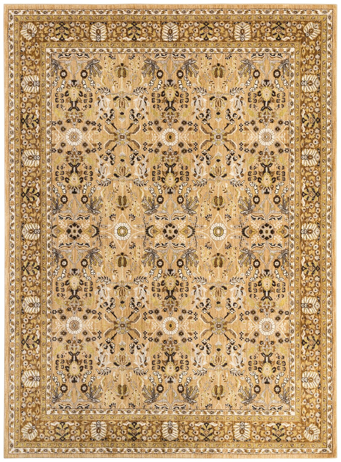 Jepson Gold/Silver Area Rug Rug Size: Rectangle 5'3