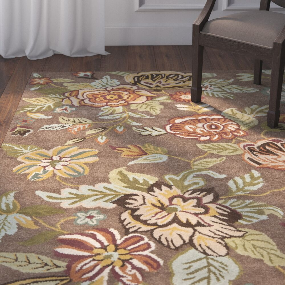 Jani Brown Area Rug Rug Size: Rectangle 3' x 5'