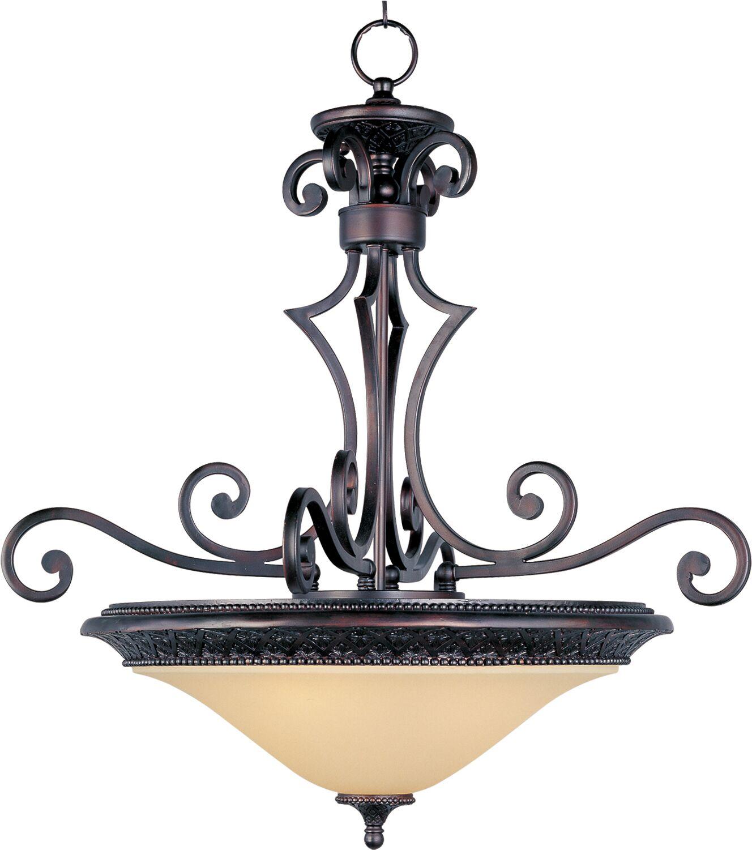 Alsager 3-Light Bowl Pendant Shade Color: Soft Vanilla