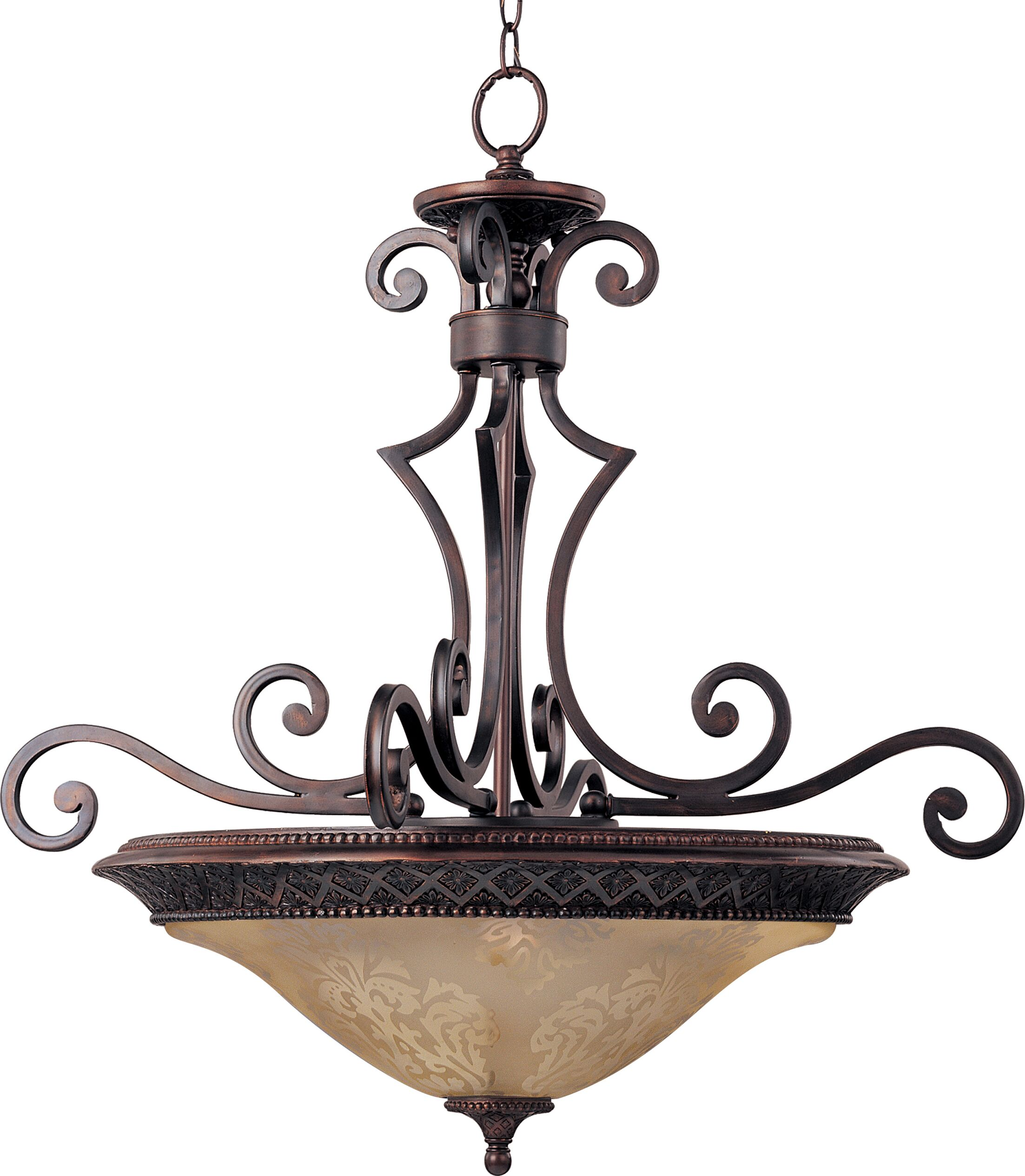 Alsager 3-Light Bowl Pendant Shade Color: Screen Amber