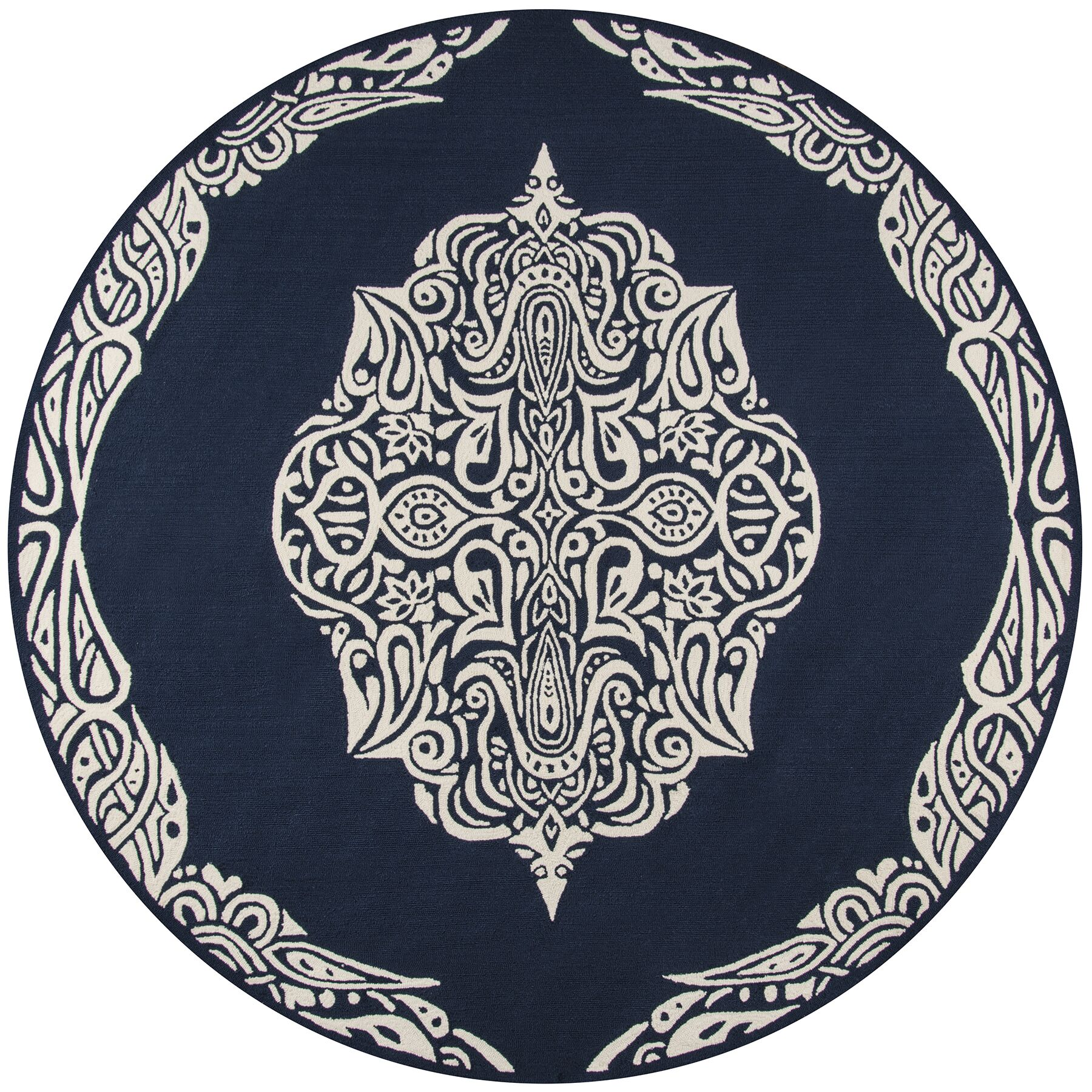 Bromville Blue Area Rug Rug Size: Rectangle 8' x 10'