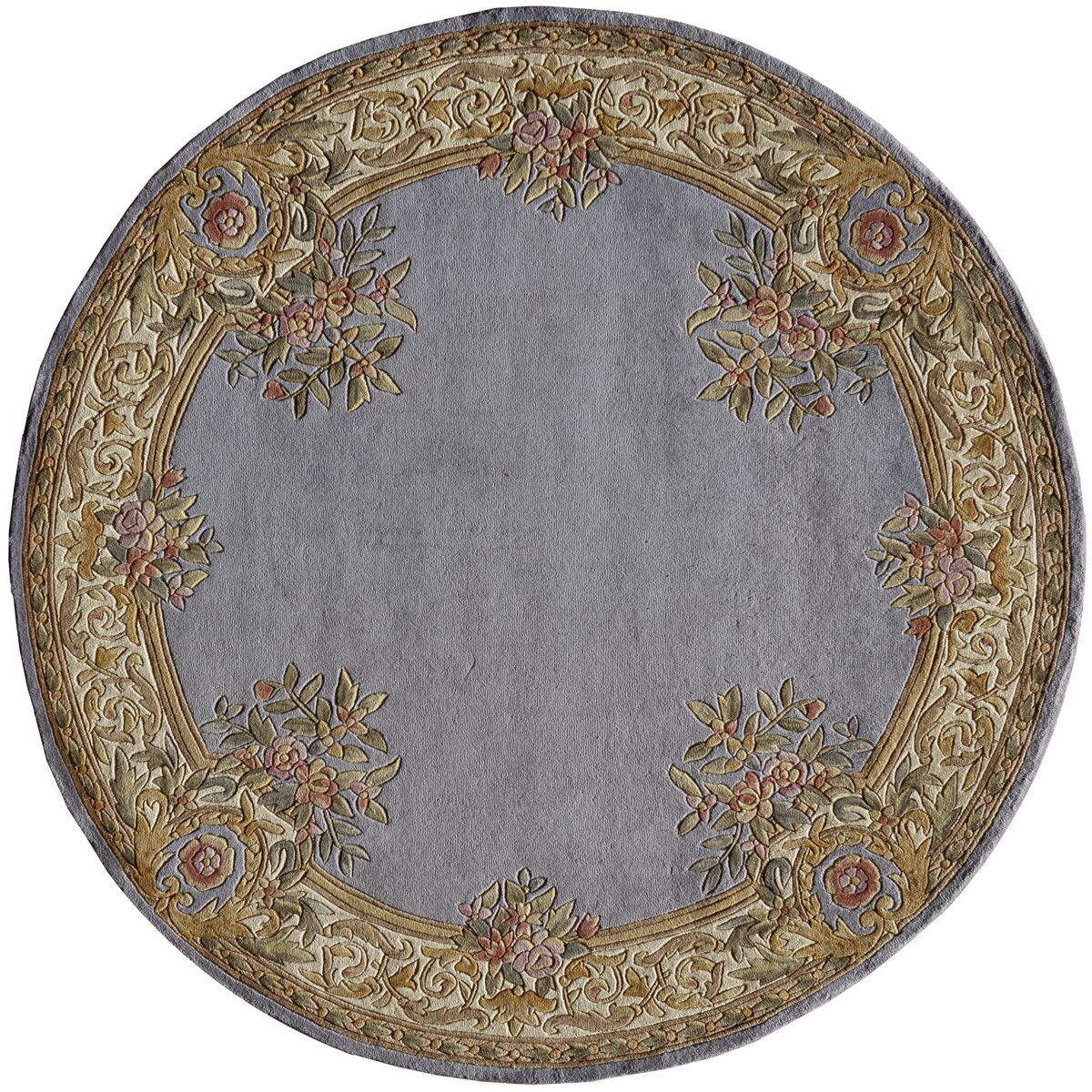 Laurel Hand-Woven Blue Area Rug Rug Size: Round 7'9
