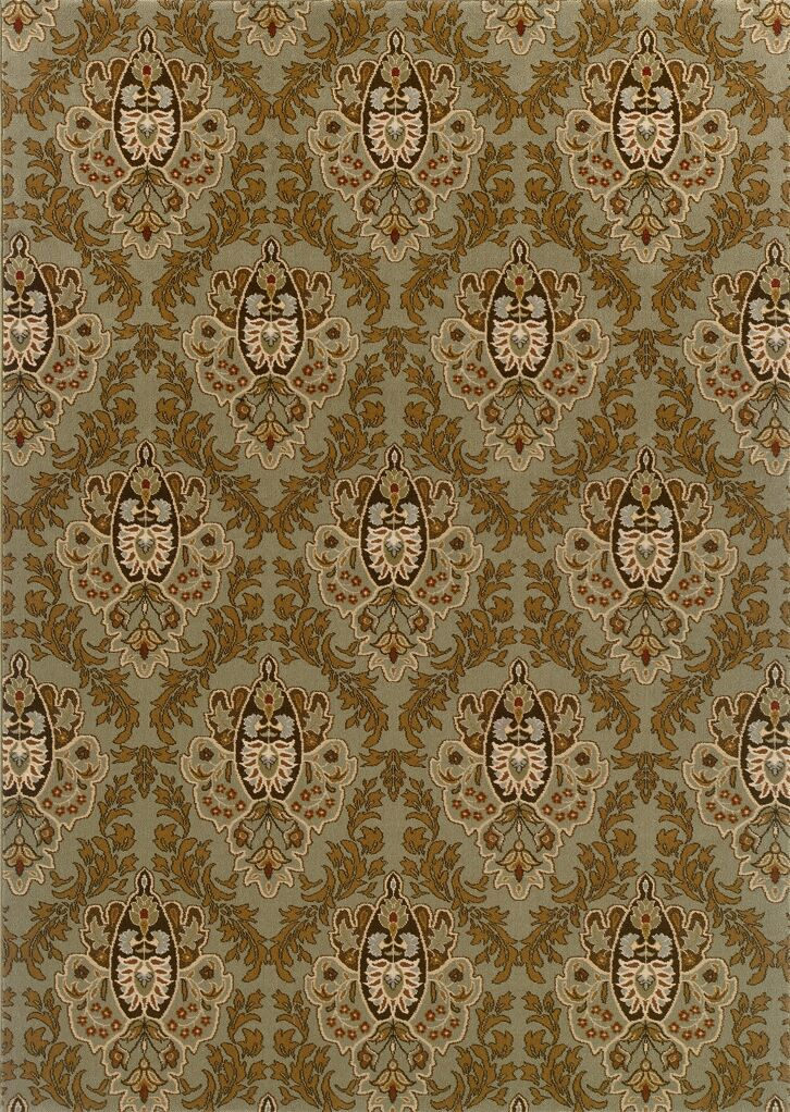 Montes Green/Brown Area Rug Rug Size: Rectangle 7'10