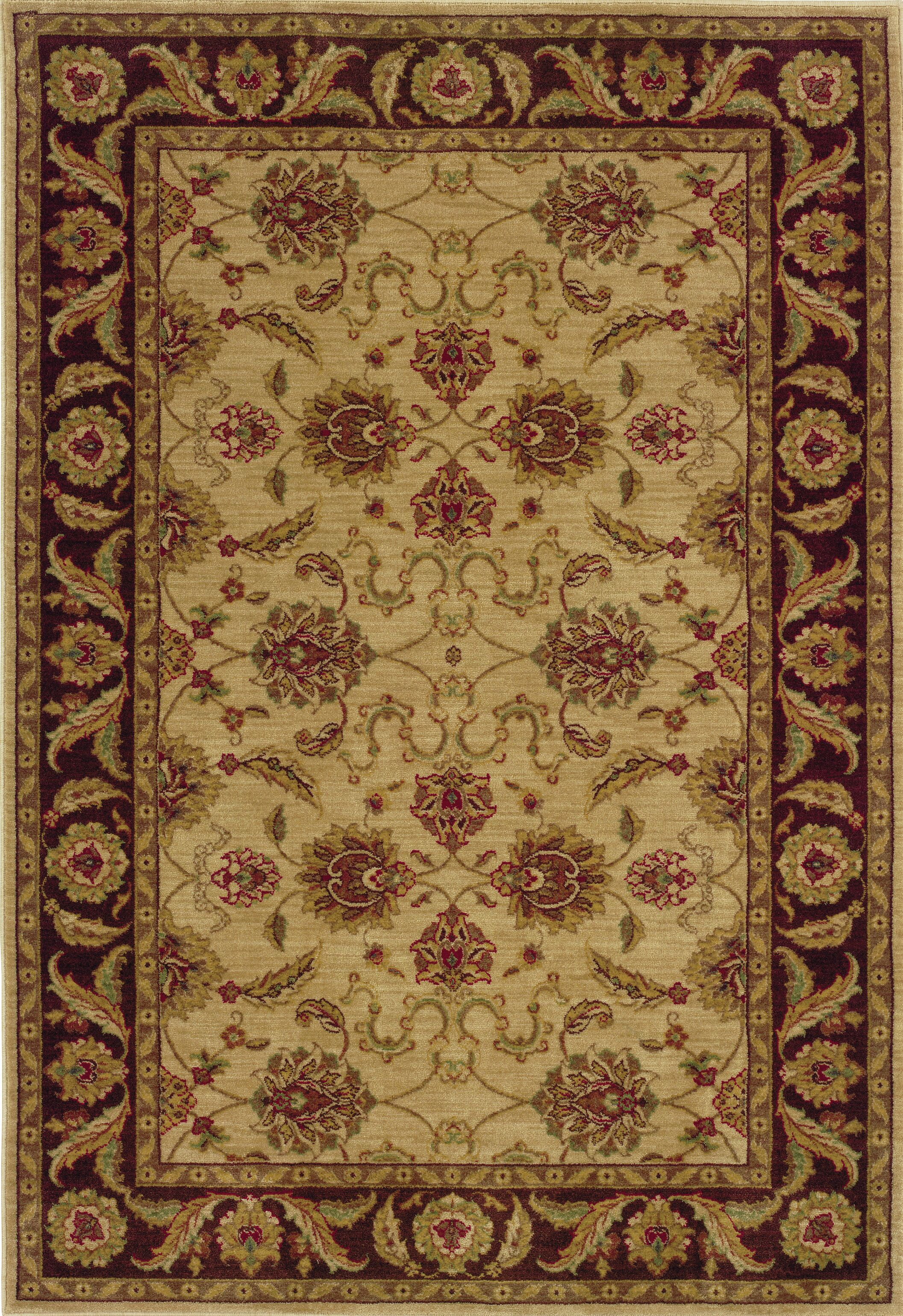 Barrows Beige/Brown Area Rug Rug Size: Rectangle 6'7