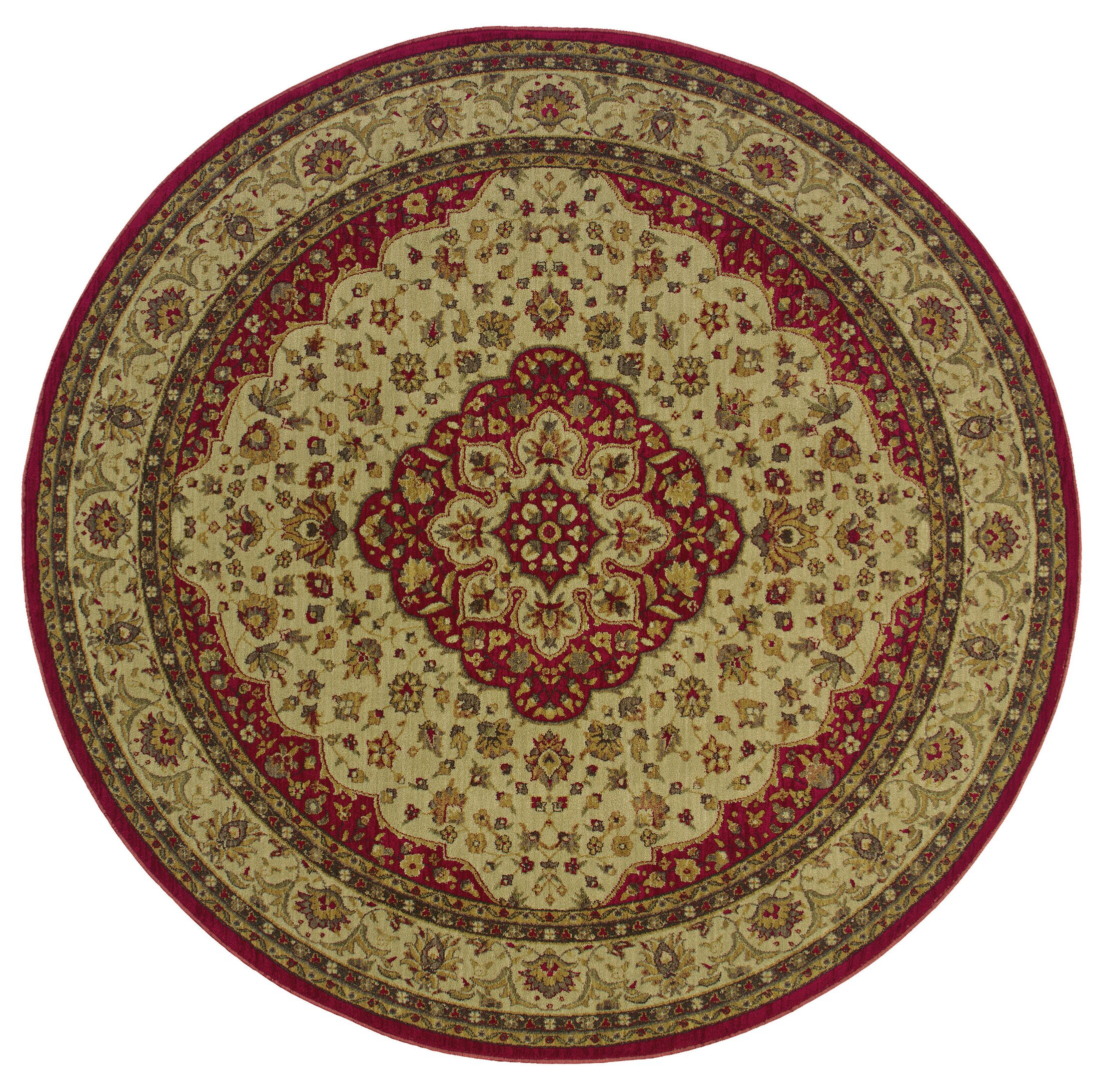 Barrows Red/Gold Area Rug Rug Size: Rectangle 7'8