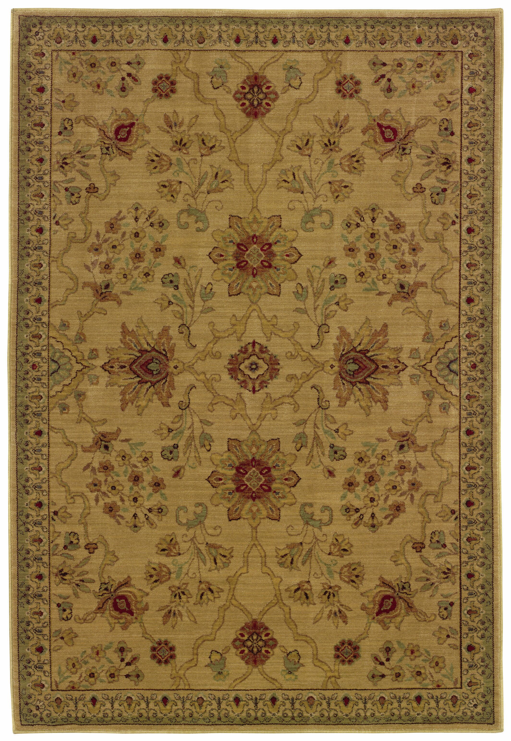 Barrows Beige/Red Area Rug Rug Size: Rectangle 5'3