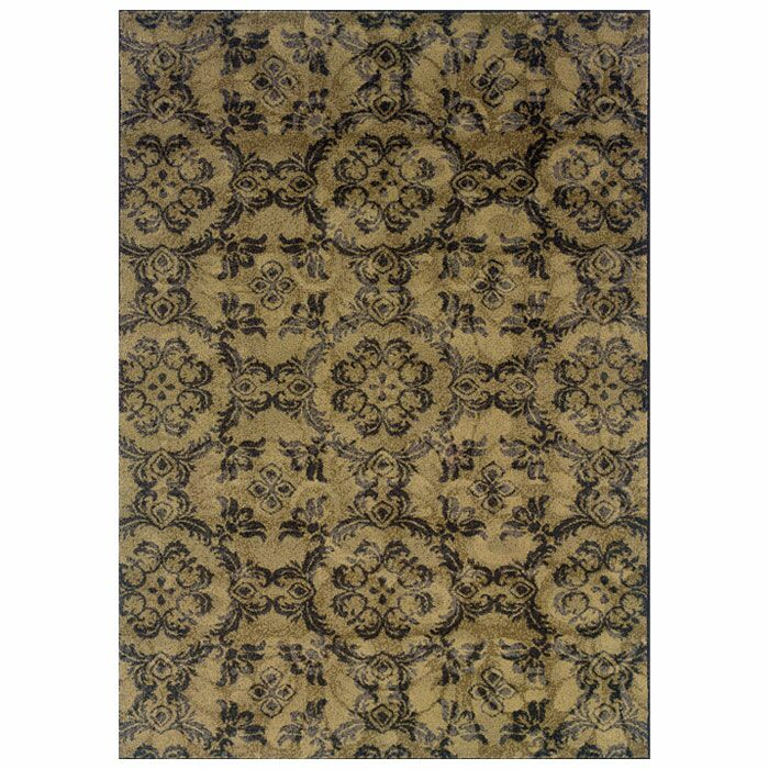 Tarquin Woven Gray/Black Area Rug Rug Size: Rectangle 3'10