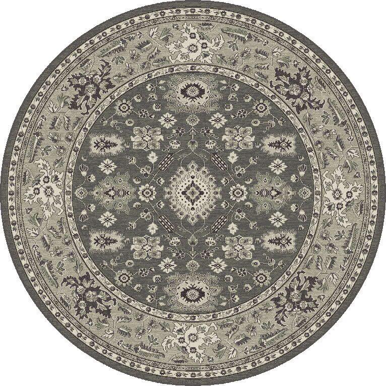 Appleridge Charcoal/Gray Agra Area Rug Rug Size: Rectangle 7'10