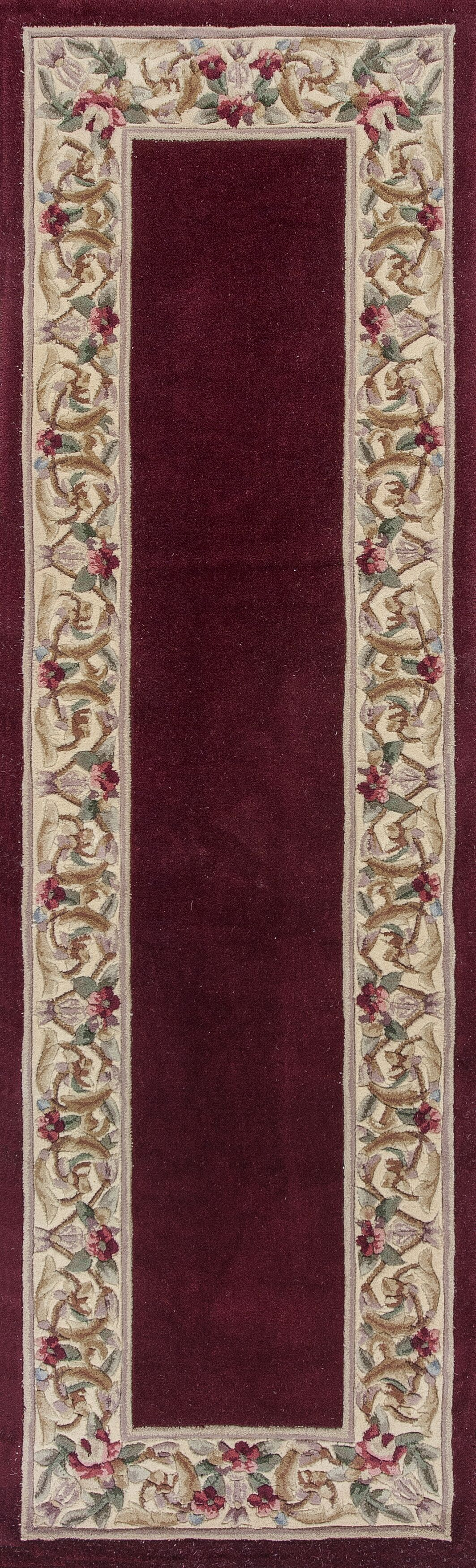 Valeriane Floral Bordered Area Rug Rug Size: Runner 2'3