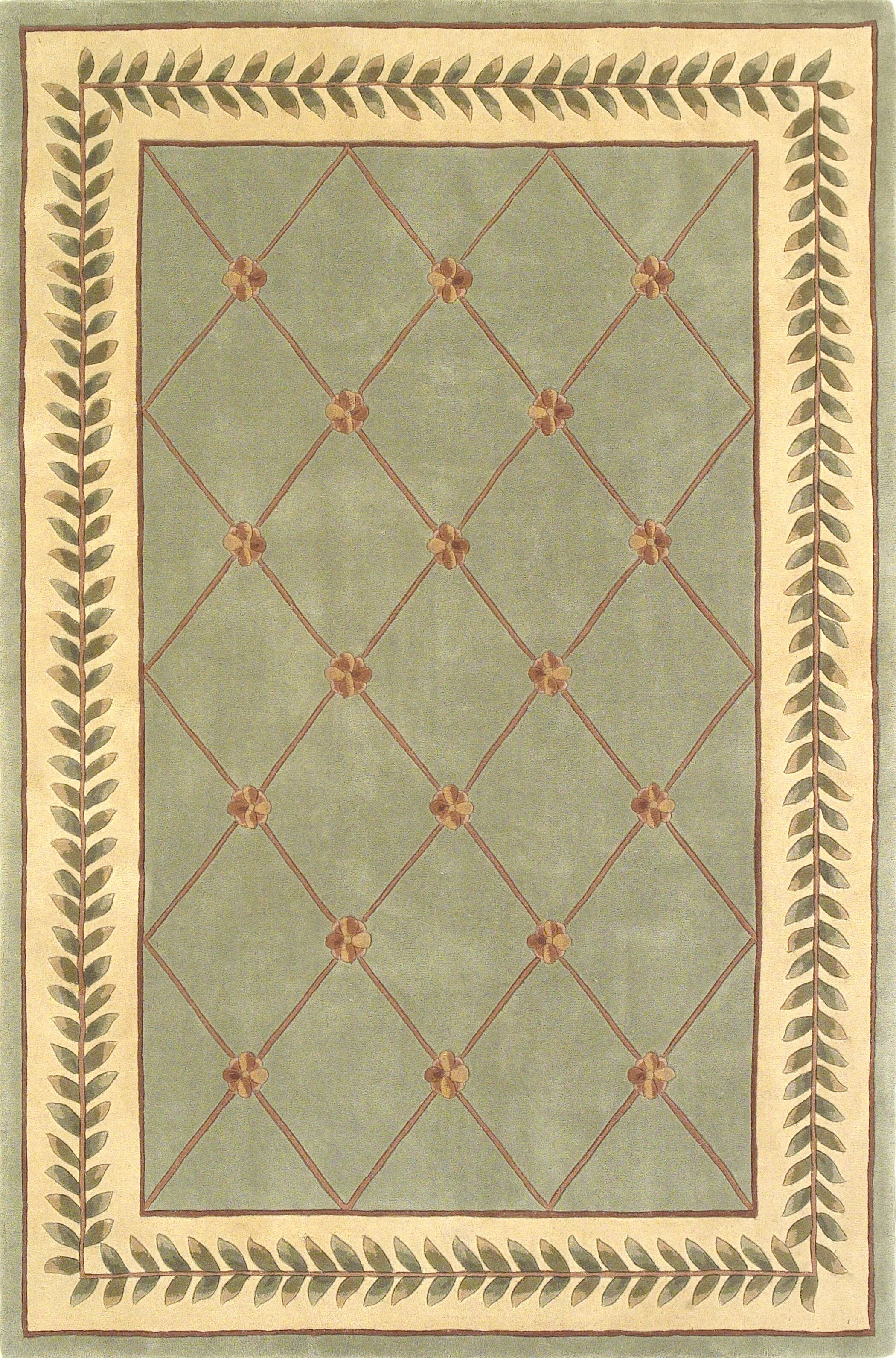 Valeriane Sage/Ivory Trellis Area Rug Rug Size: 8' x 10'
