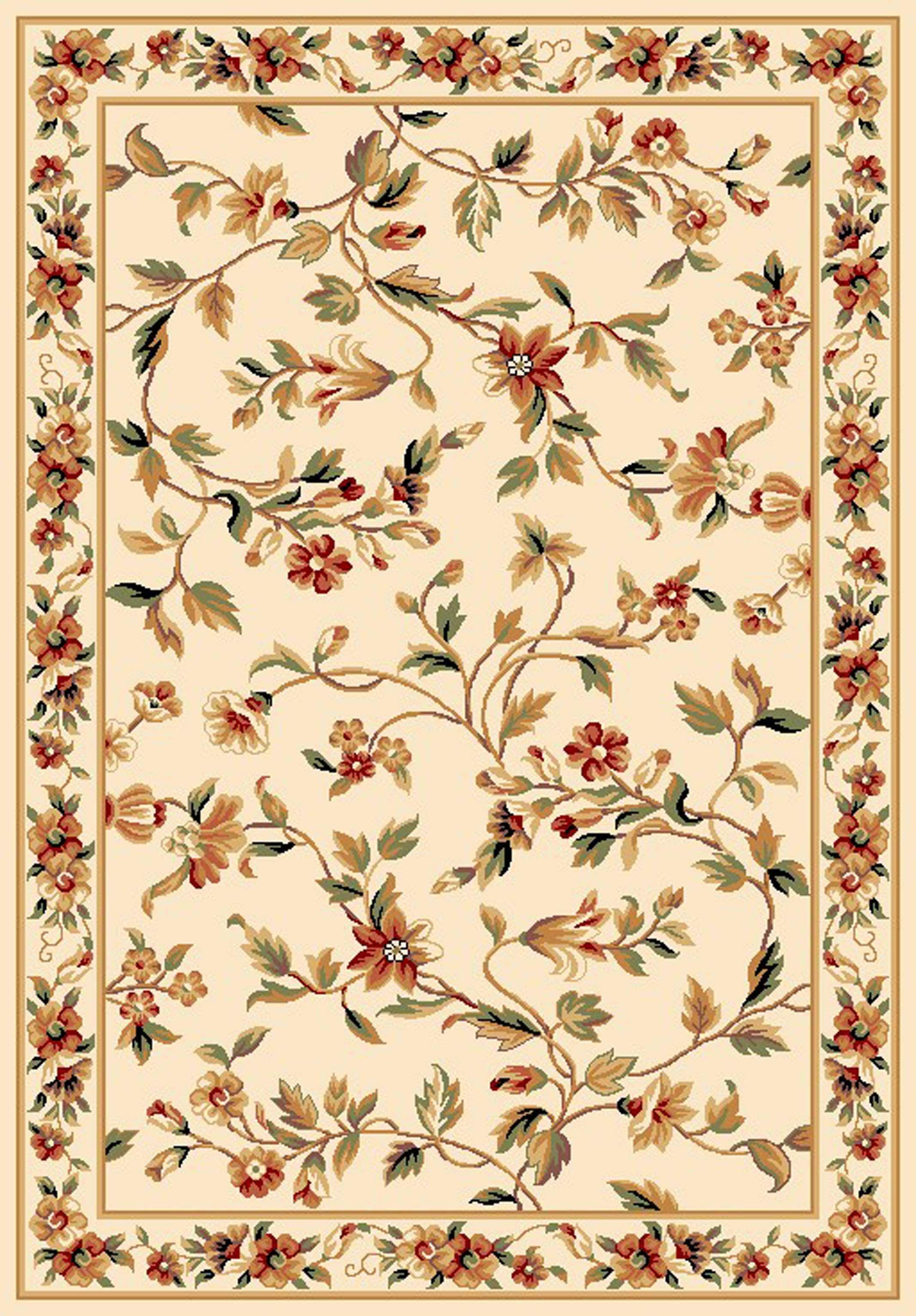 Verveine Ivory Floral Area Rug Rug Size: Round 7'7