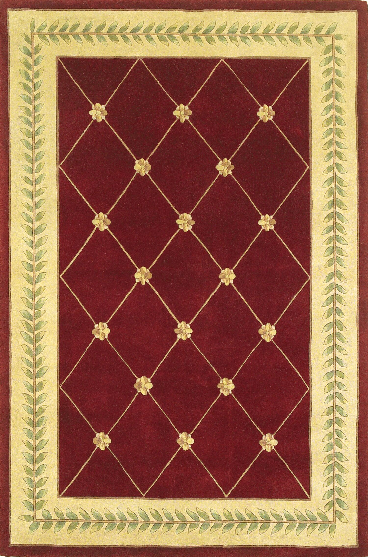 Valeriane Gold Trellis Area Rug Rug Size: 3'3