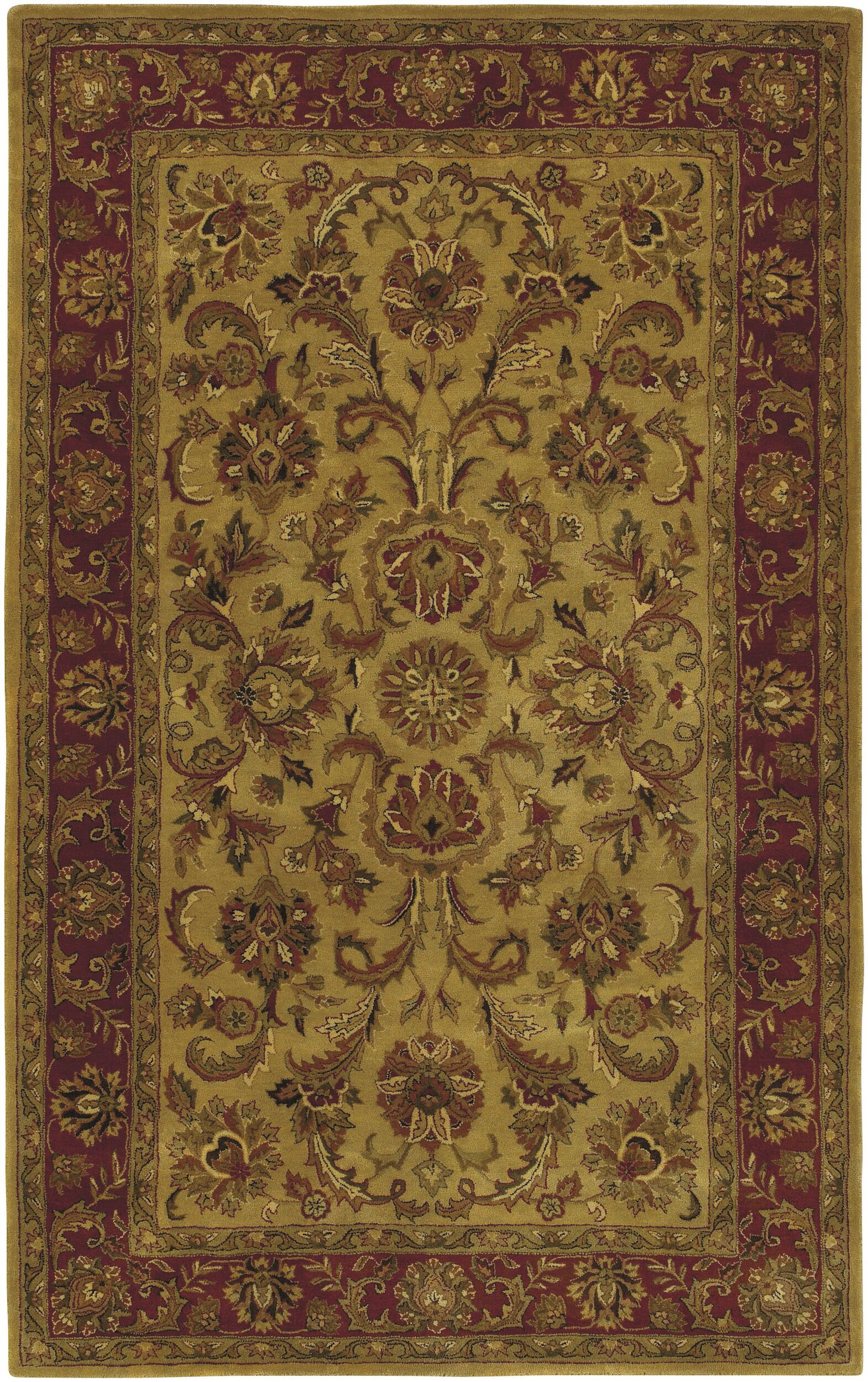 Garrison Gold/Red Area Rug Rug Size: Runner 2'6