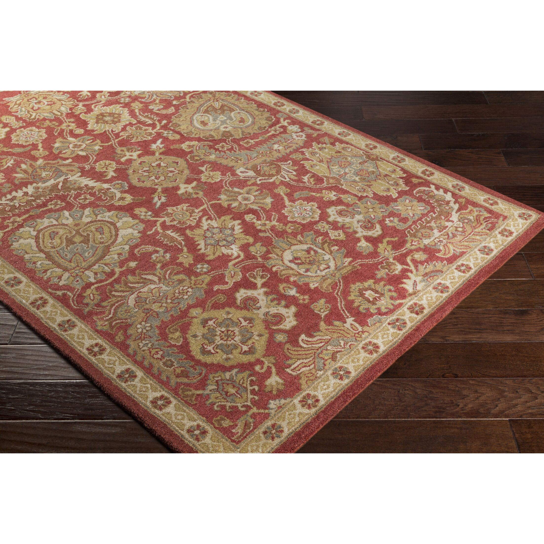 Garrison Hand-Tufted Rust/Tan Area Rug Rug Size: Rectangle 3'3