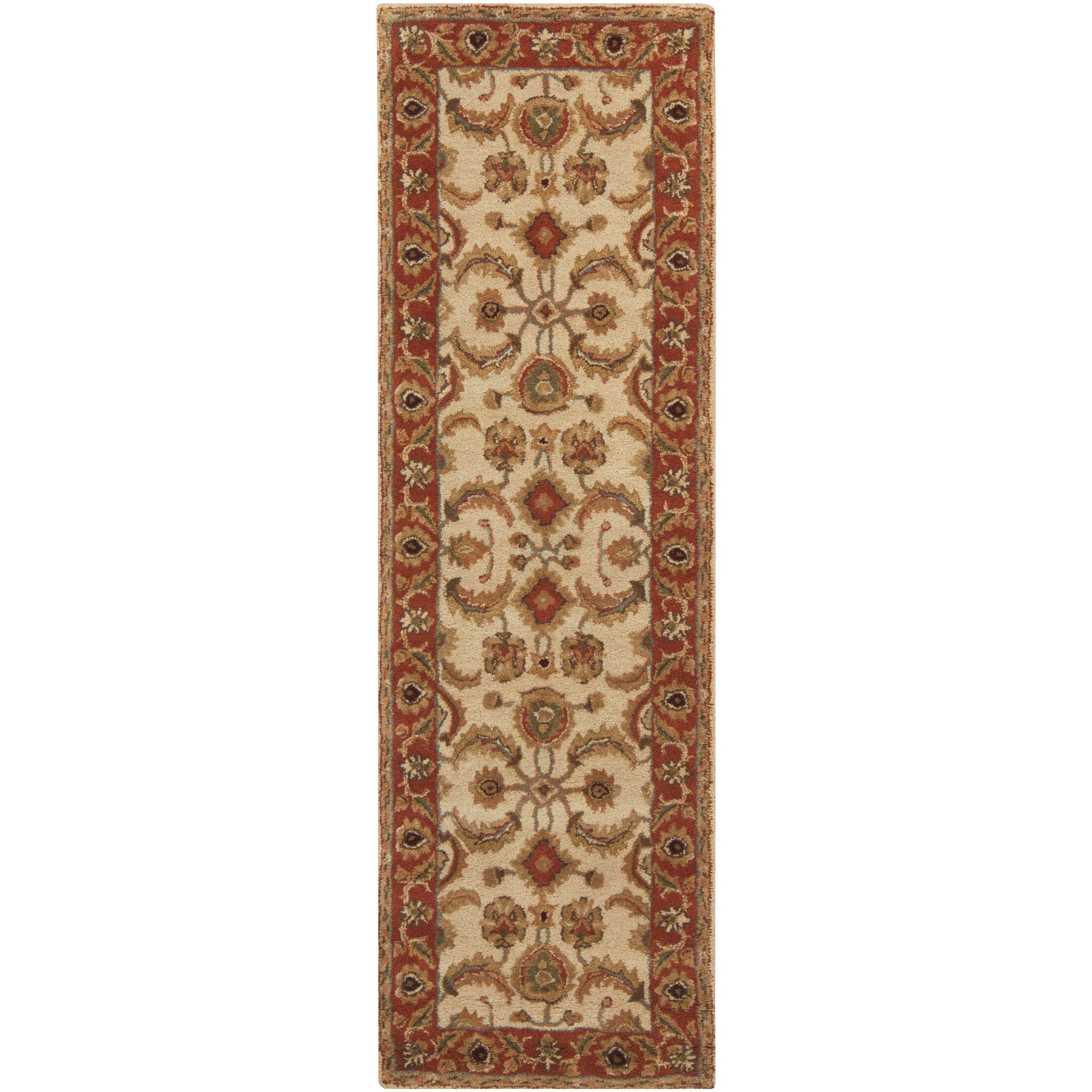 Arcadia Hand-Tufted Red/Brown Area Rug Rug Size: Runner 2'6