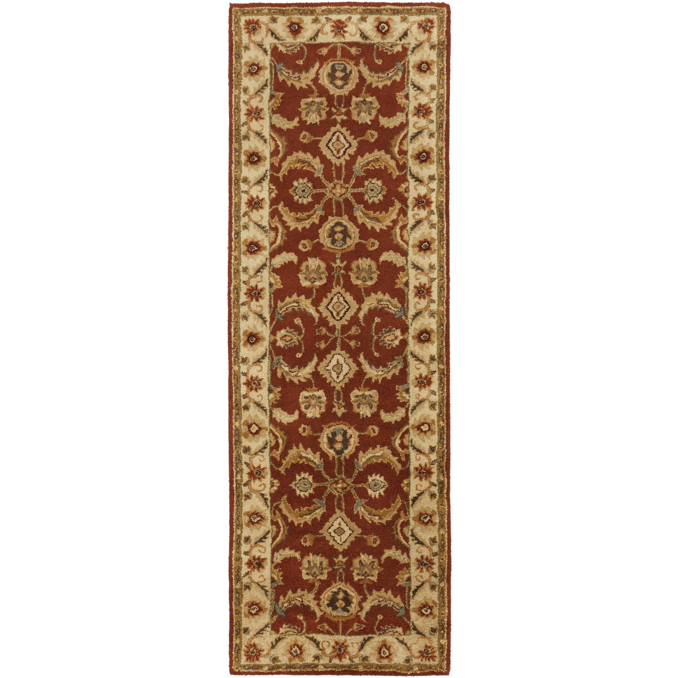 Arcadia Hand-Tufted Red Area Rug Rug Size: Runner 2'6