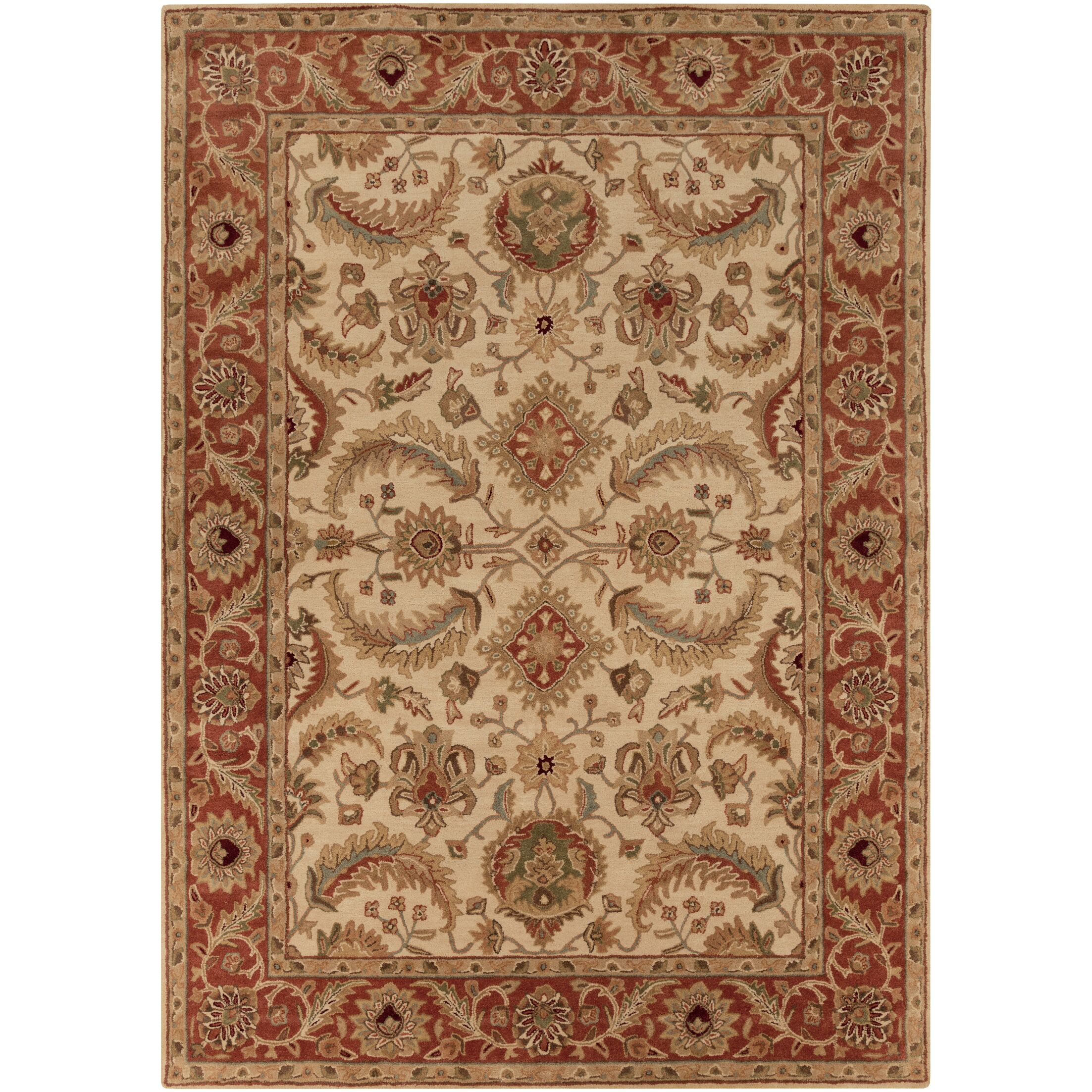 Arcadia Hand-Tufted Red/Brown Area Rug Rug Size: Rectangle 9' x 13'