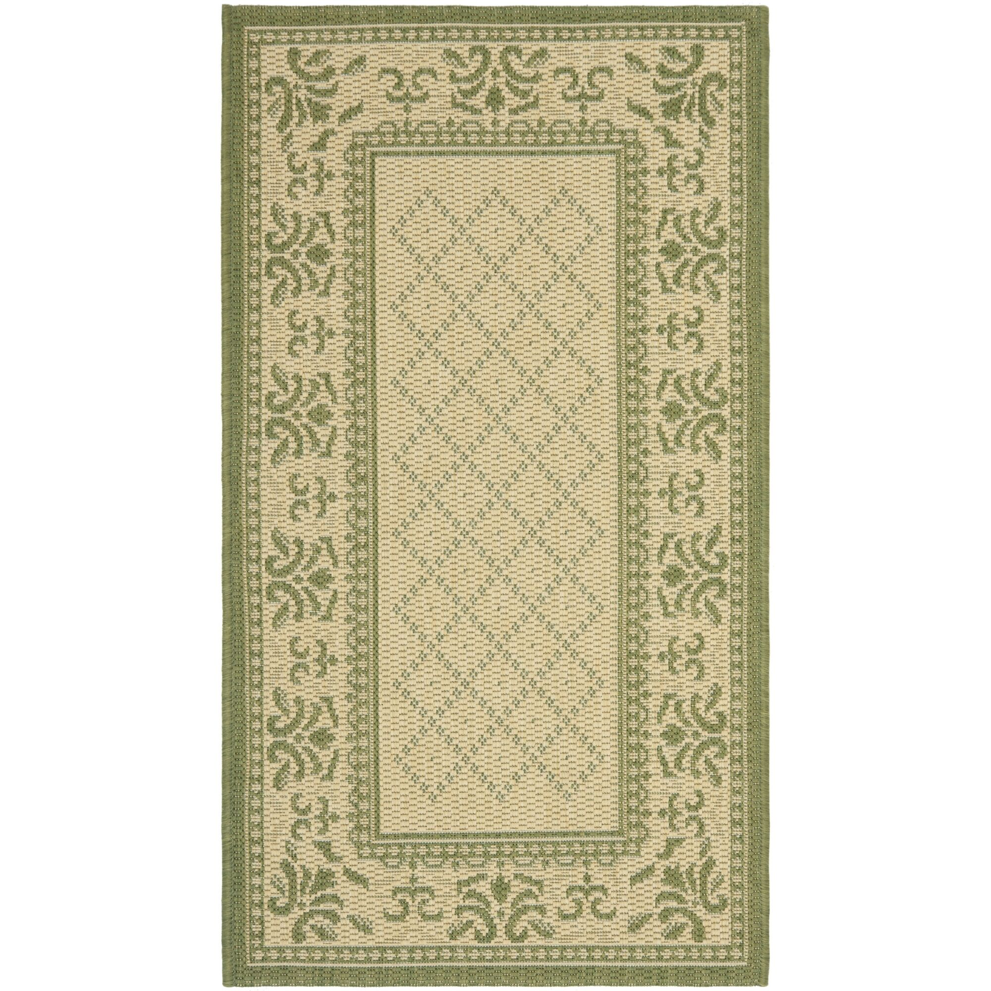 Beasley Natural/Olive Outdoor Rug Rug Size: Rectangle 8' x 11'