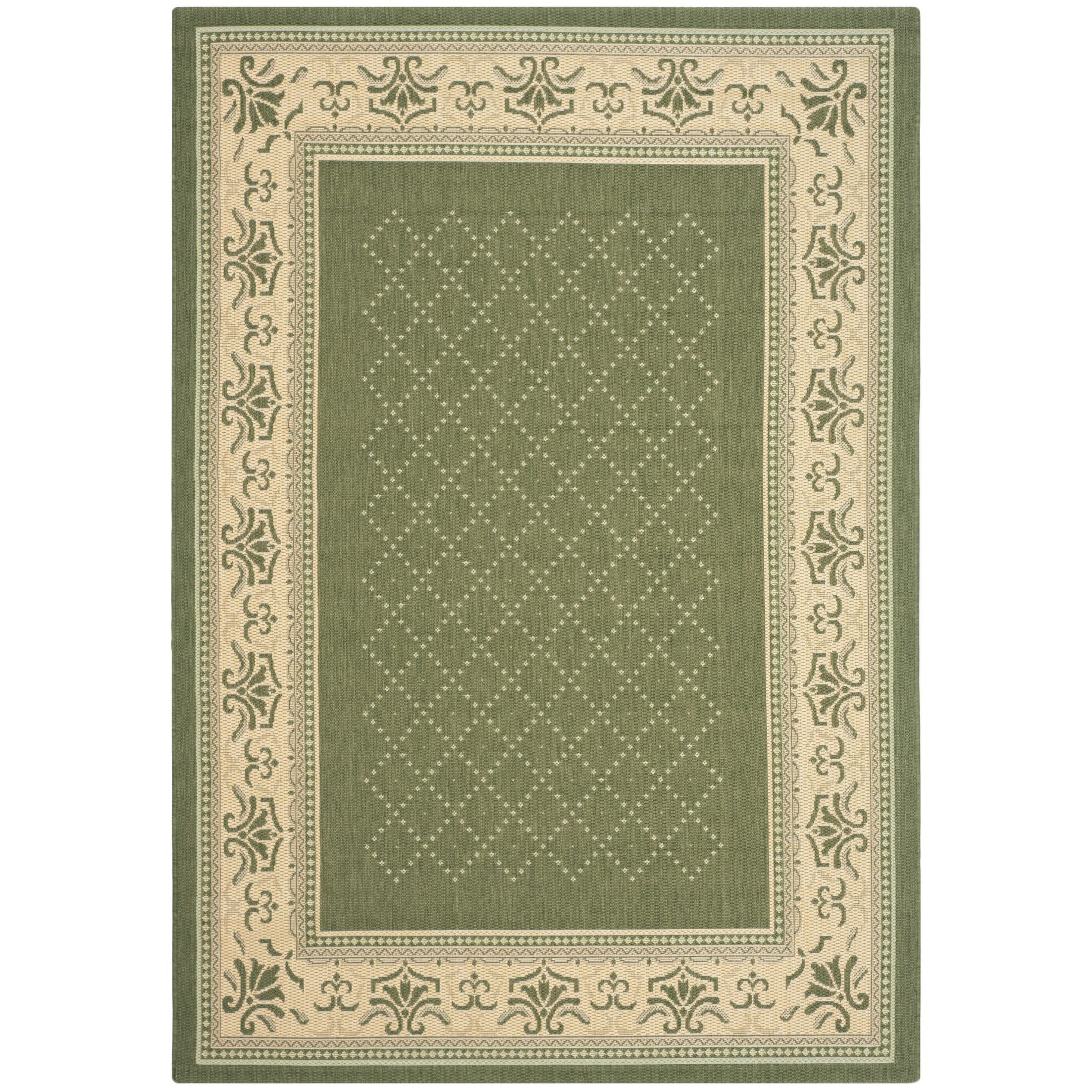 Beasley Olive/Natural Outdoor Area Rug Rug Size: Rectangle 8' x 11'