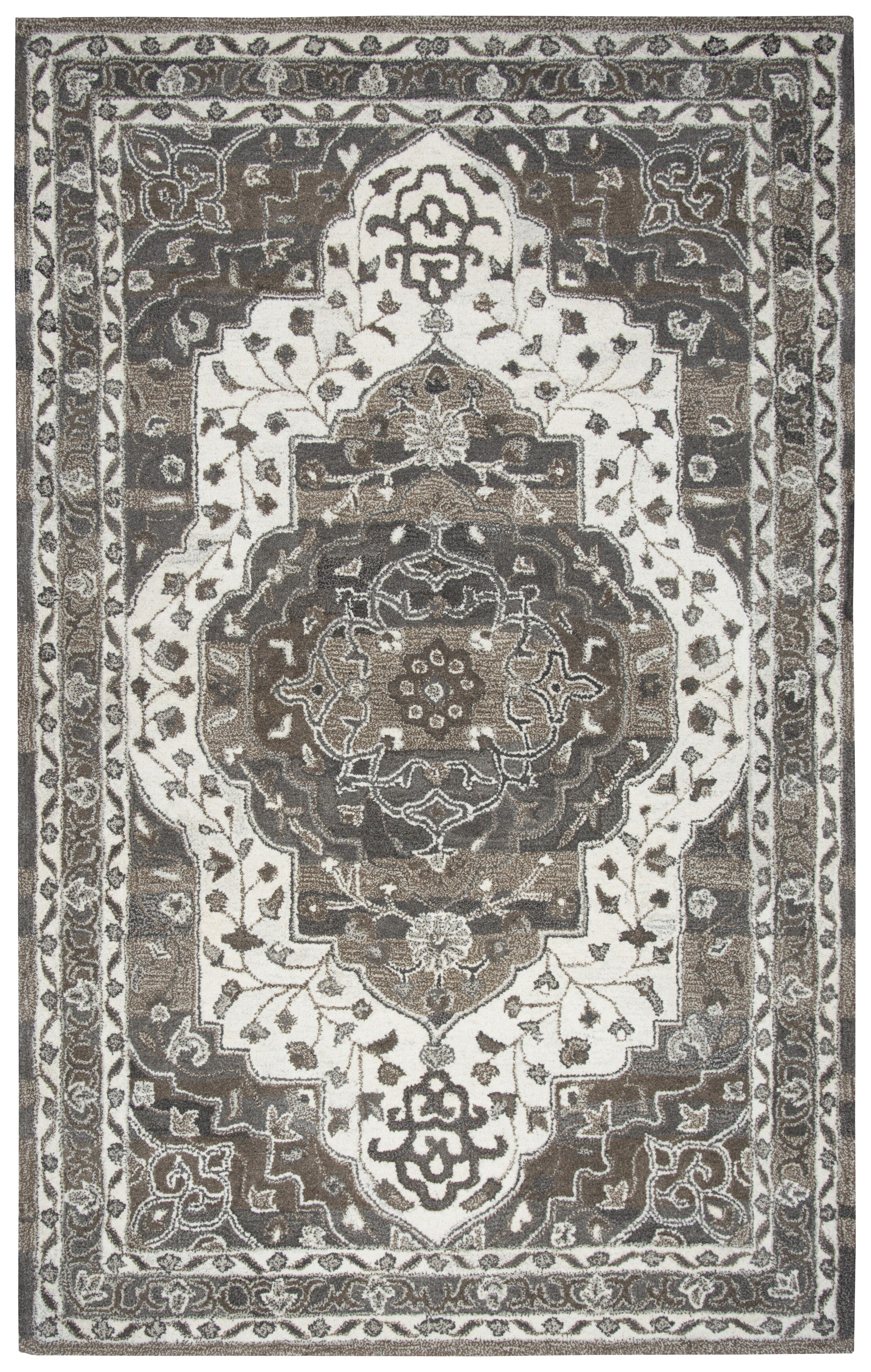 Byron Hand-Tufted Brown Area Rug Rug Size: Rectangle 9' x 12'