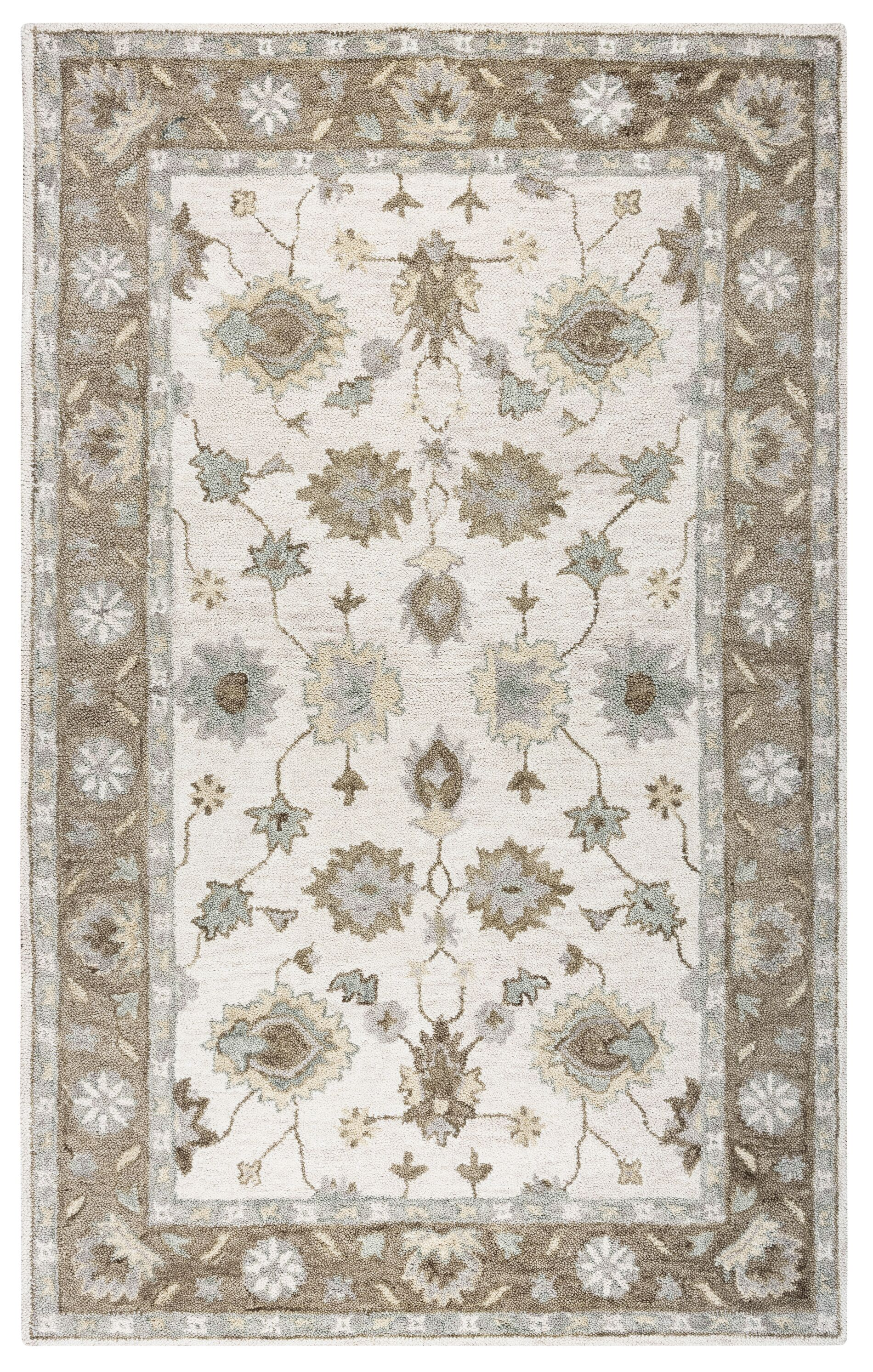 Jelia Hand-Tufted Natural Area Rug Size: Rectangle 5' x 8'