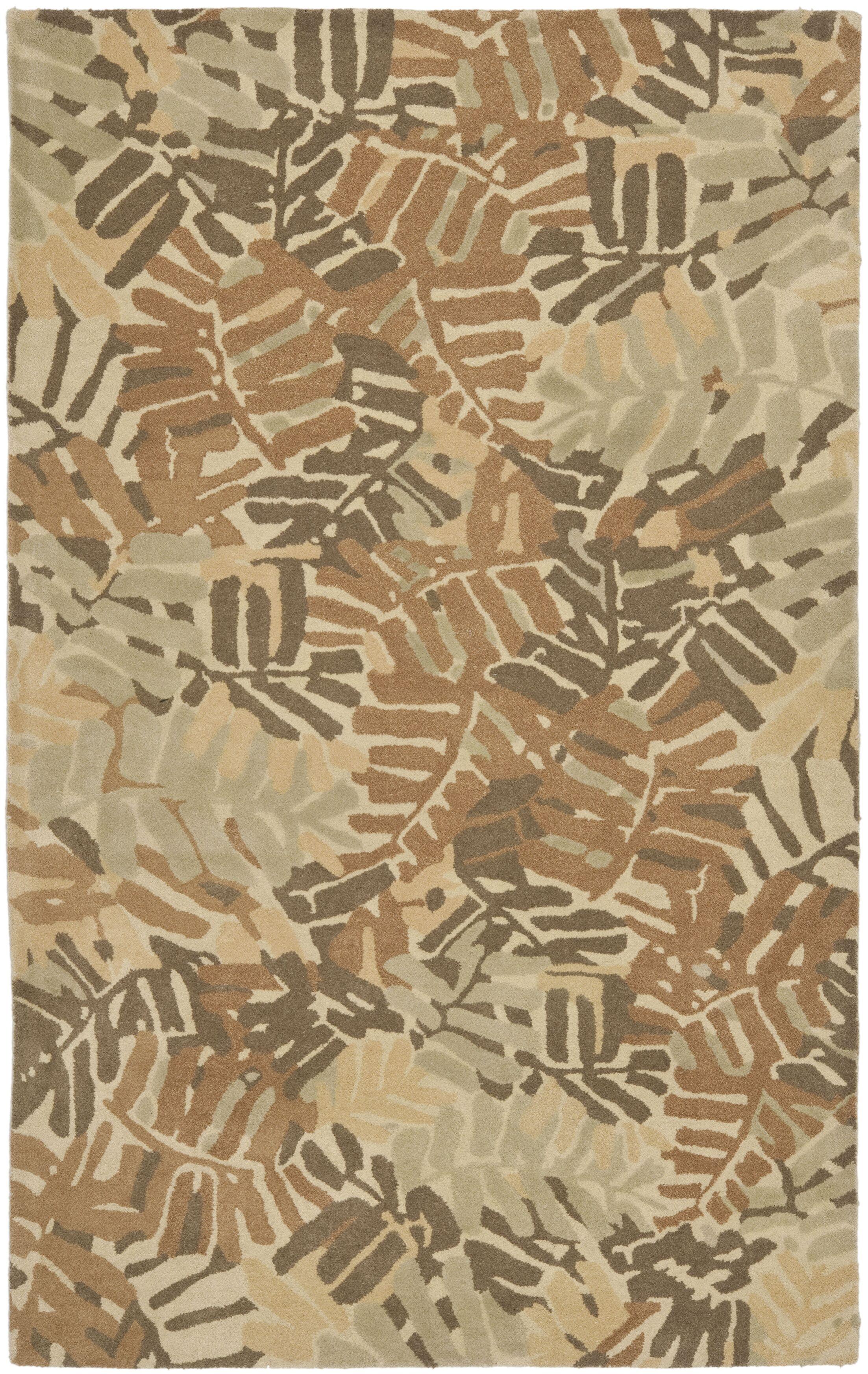 Palm Leaf Hand-Loomed Spud Area Rug Rug Size: Rectangle 4' x 6'