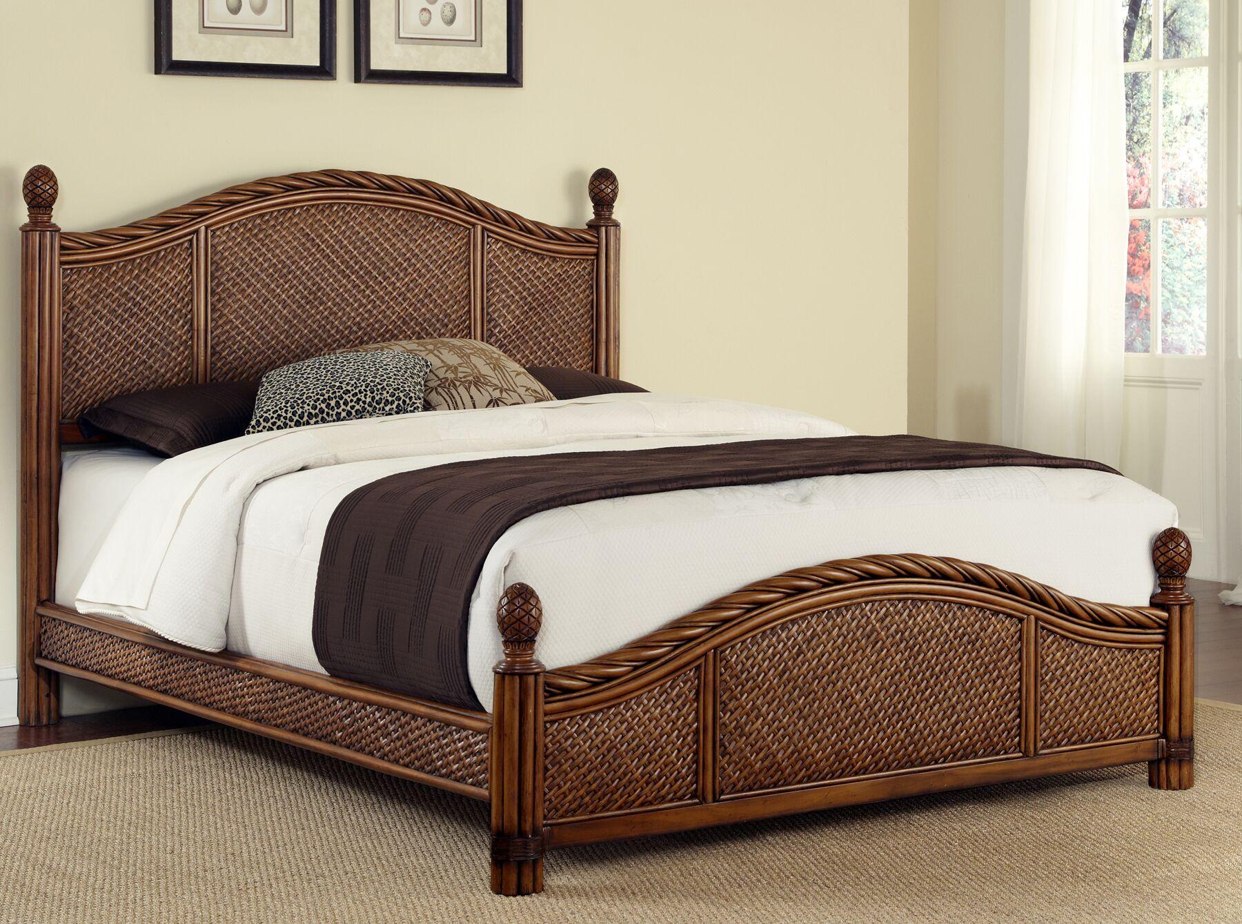 Dessie Panel Bed Size: King, Color: Cinnamon