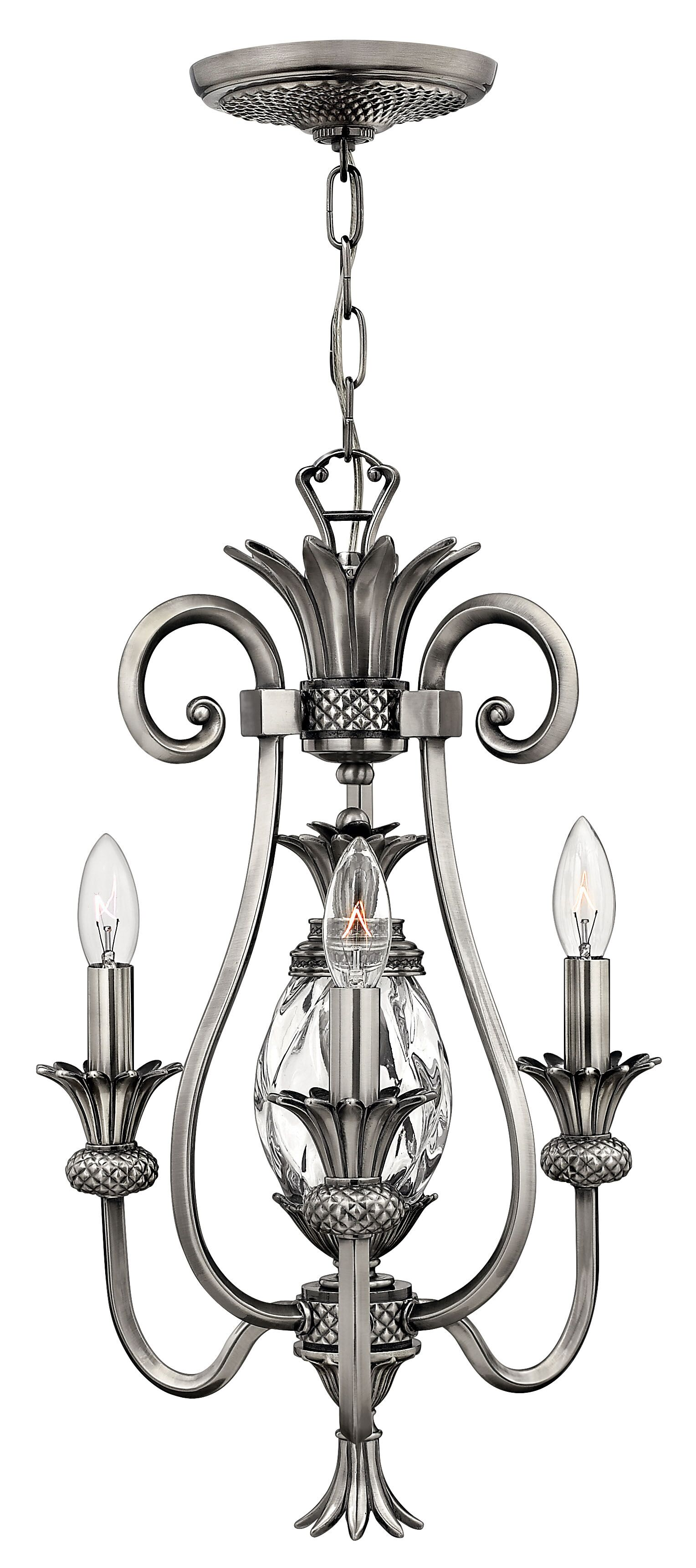 Terry 3-Light Candle Style Chandelier Color: Polished Antique Nickel