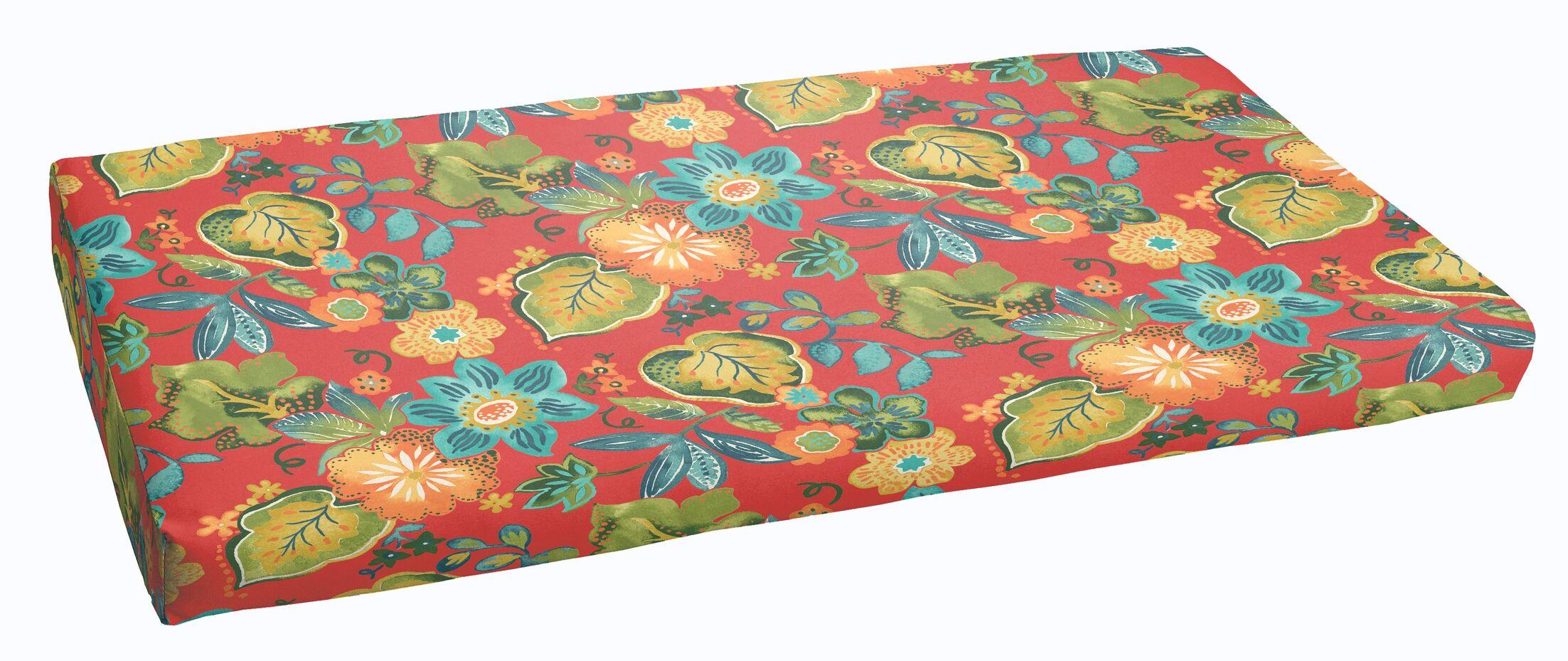 Hiawatha Beach Indoor/Outdoor Bench Cushion Size: 48