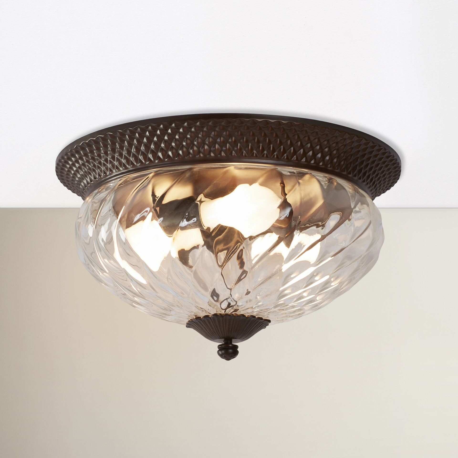 Terry 3-Light Flush Mount Color: Copper Bronze