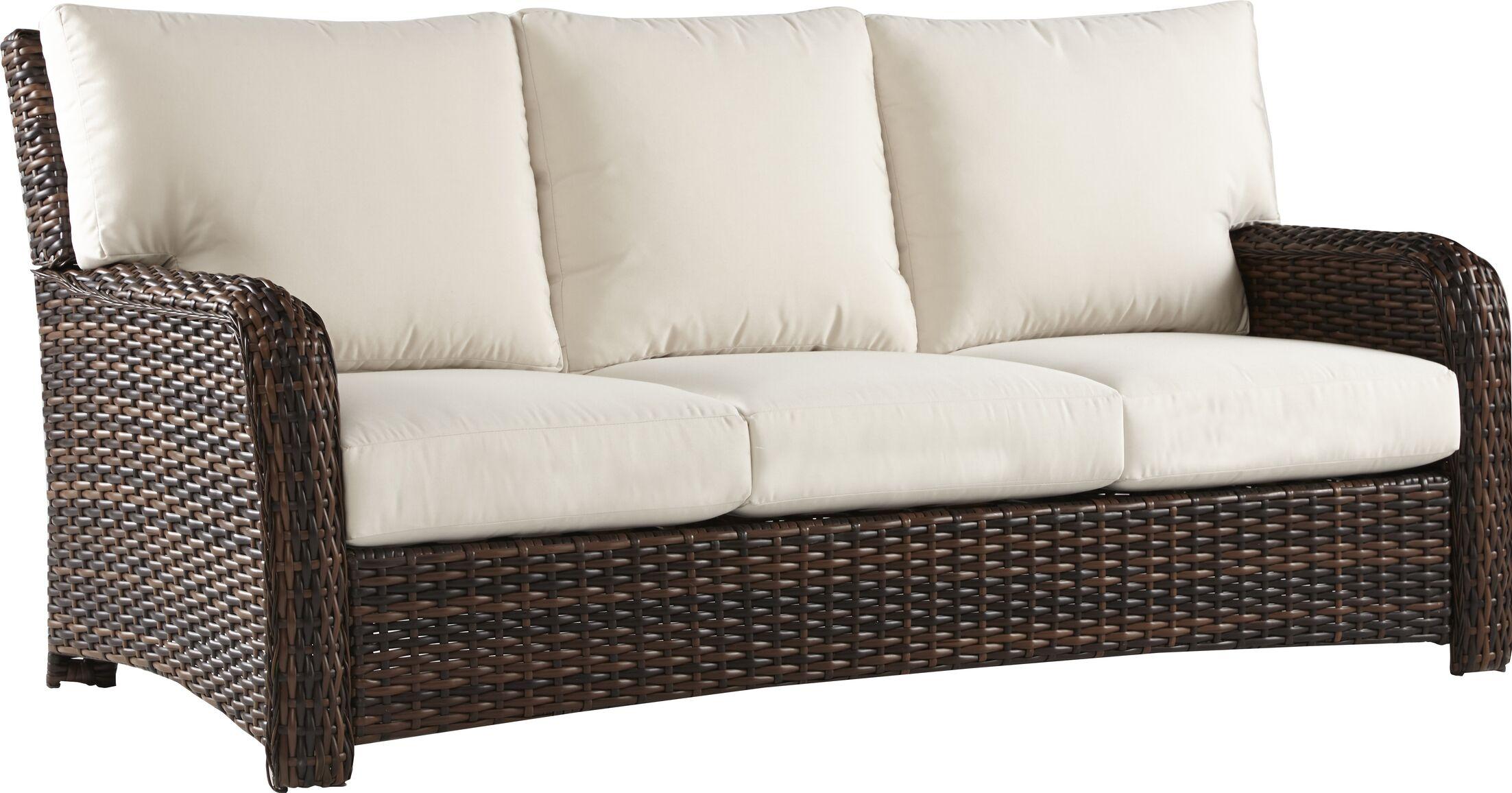 Chorio Sofa with Cushions Frame Color: Stone, Cushion Color: Cast Slate