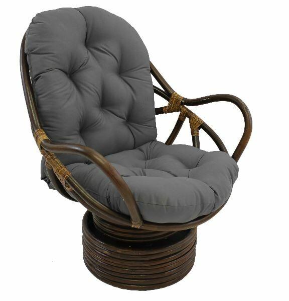 Jimena Papasan Chair Upholstery: Steel Grey