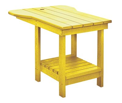 Trinidad Plastic Side Table Color: Yellow