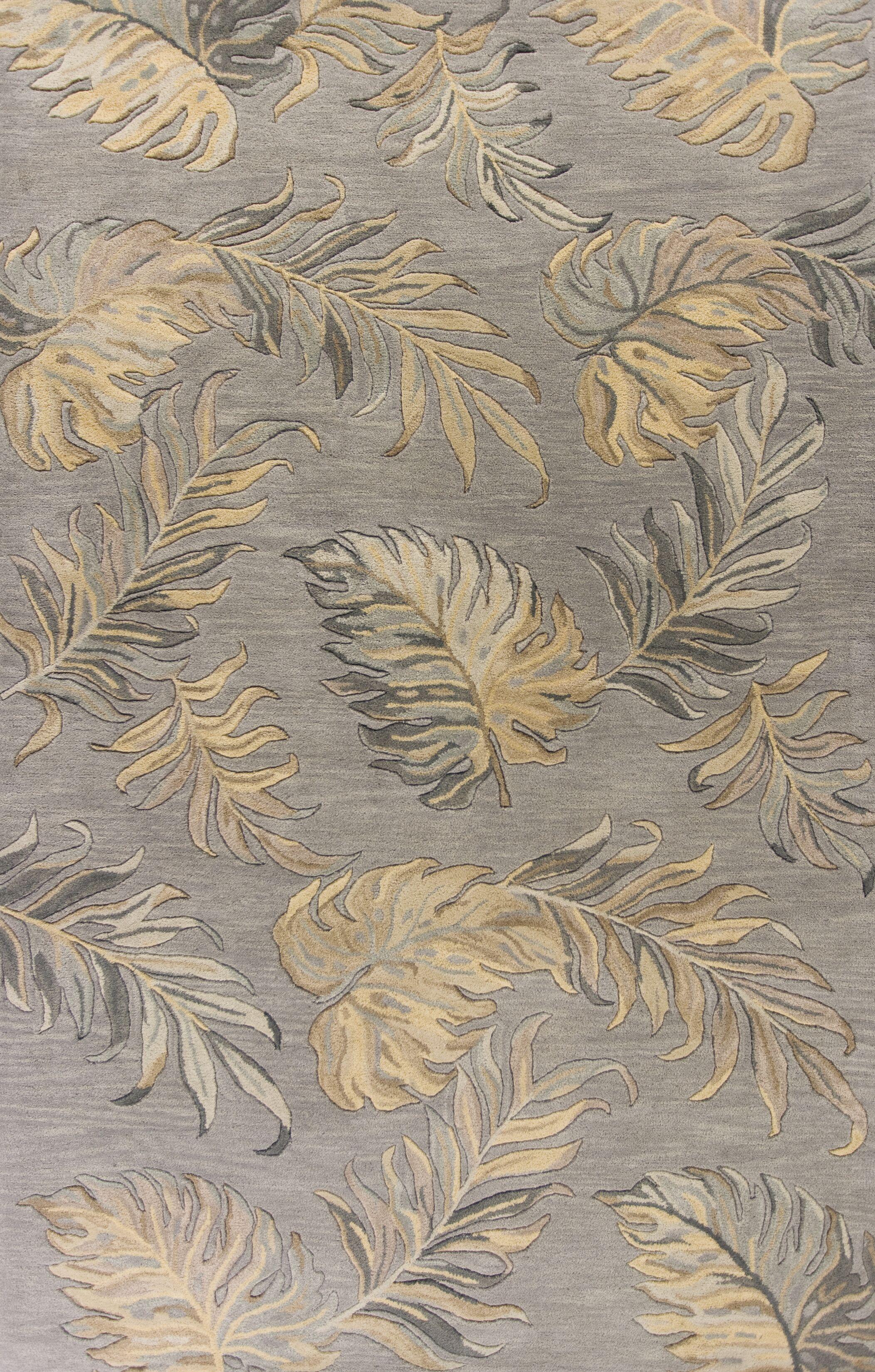 Imala Hand-Tufted Gray Area Rug Rug Size: Rectangle 5' x 8'