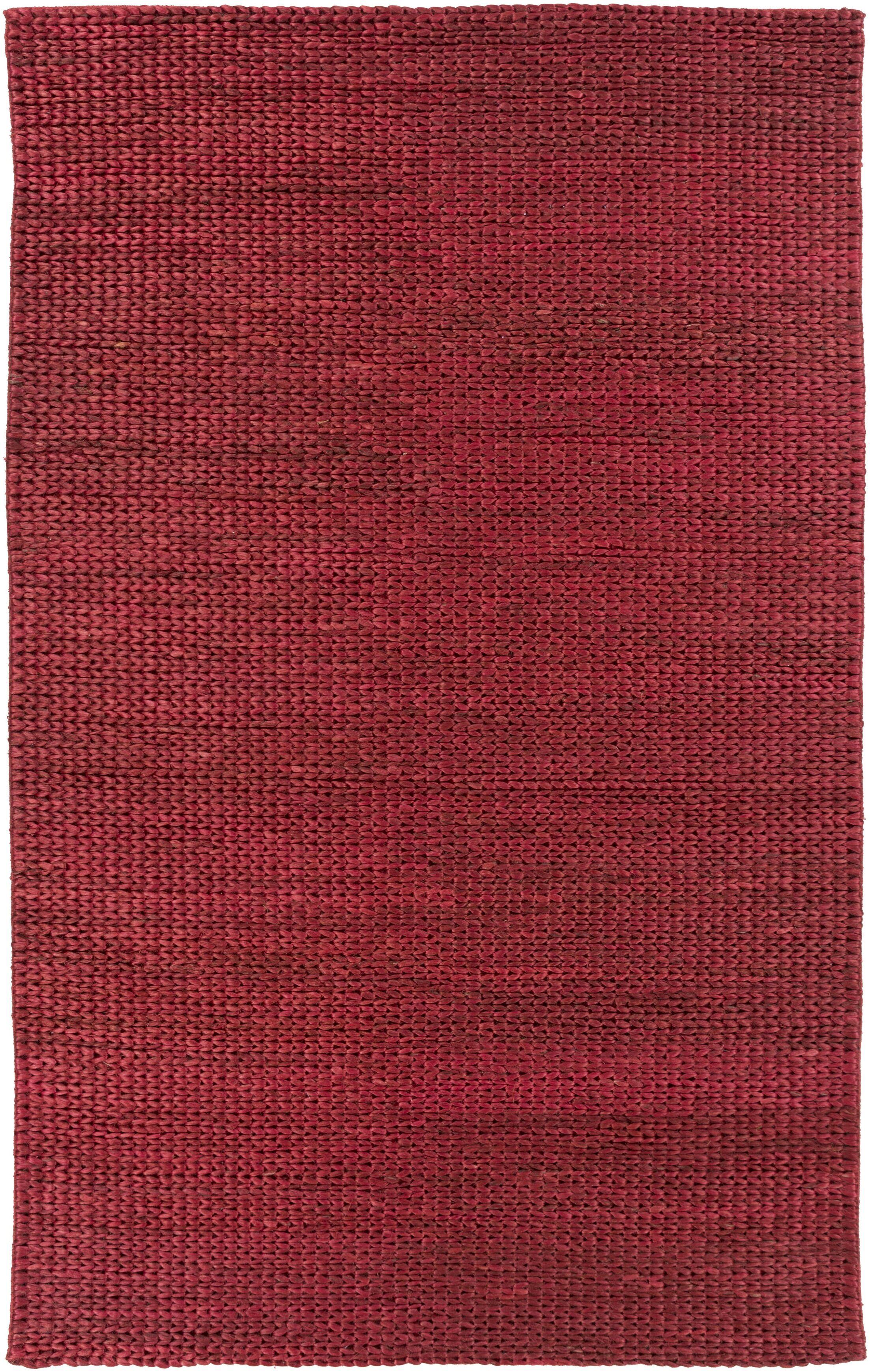 Tai Hand Woven Burgundy Area Rug Rug Size: Rectangle 5' x 8'