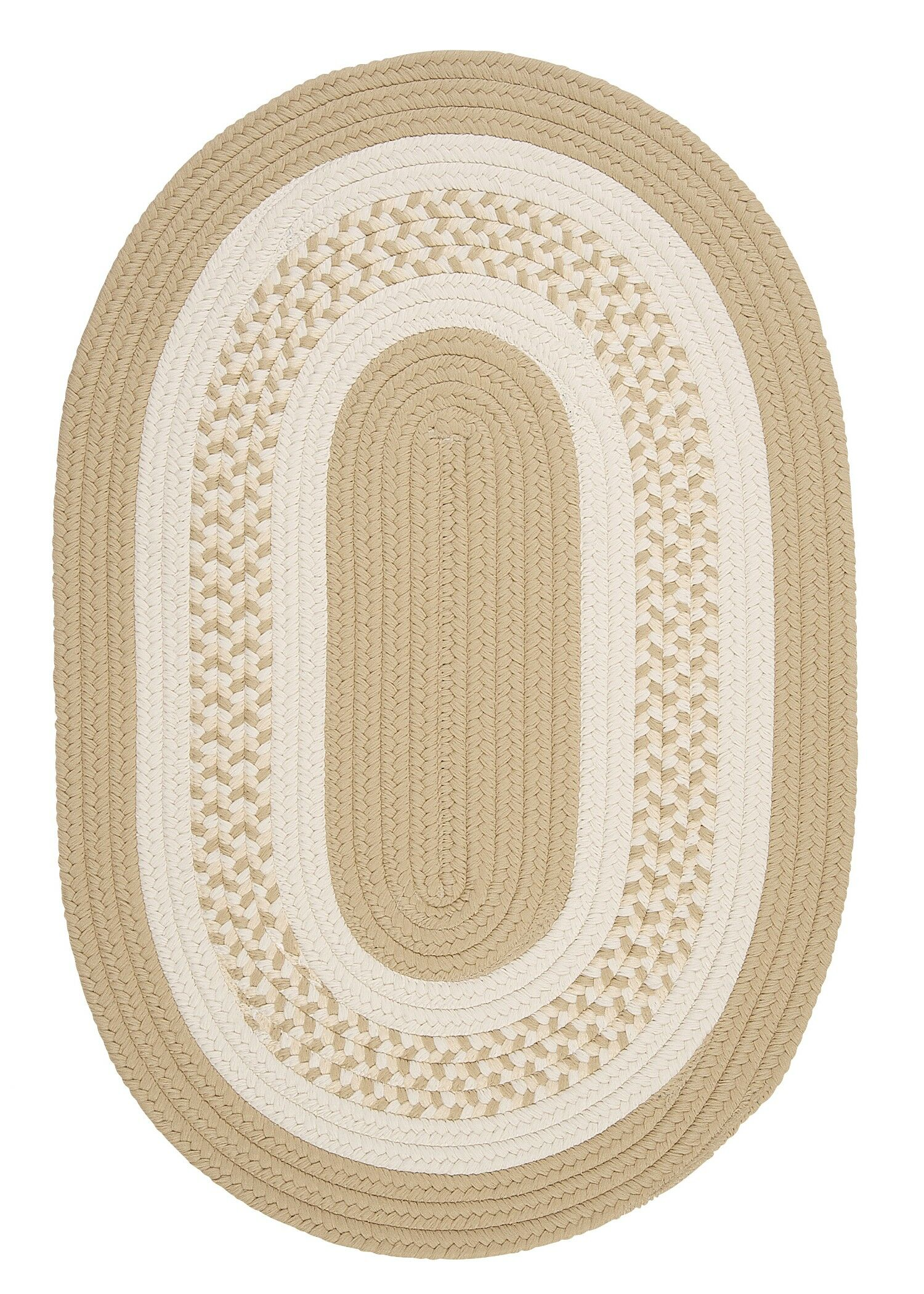 Rockport Neutral Linen Indoor/Outdoor Rug Rug Size: Round 12'