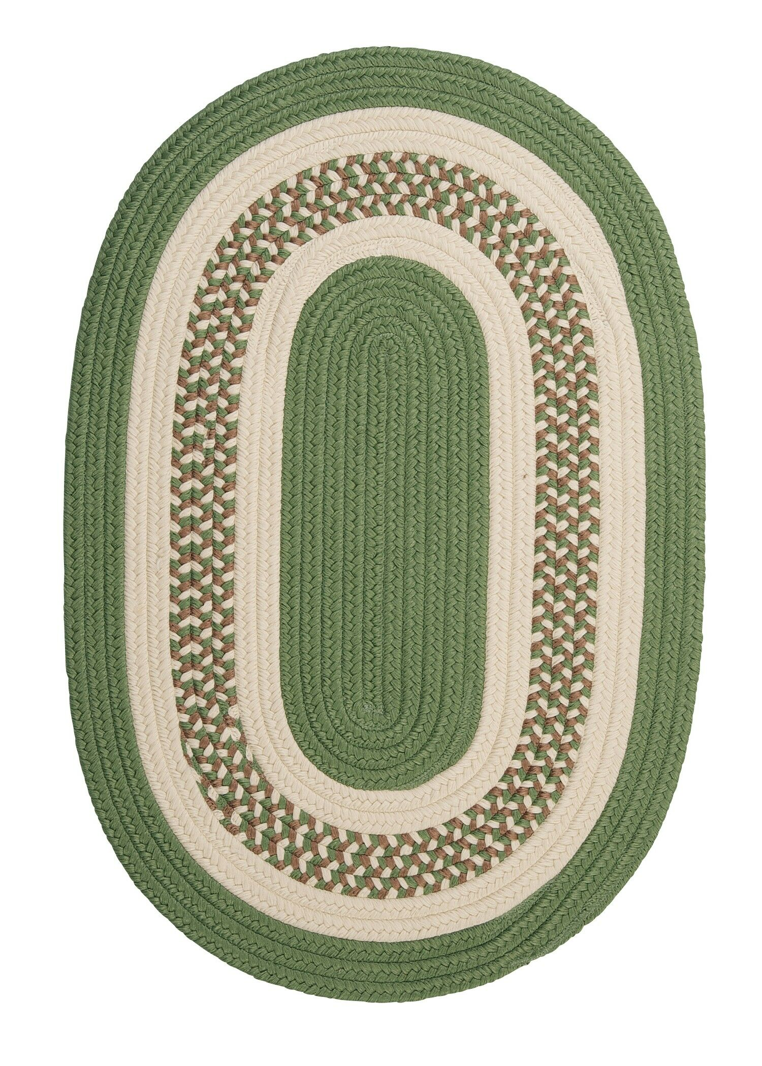 Rockport Moss Green Indoor/Outdoor Rug Rug Size: Oval Runner 2' x 8'
