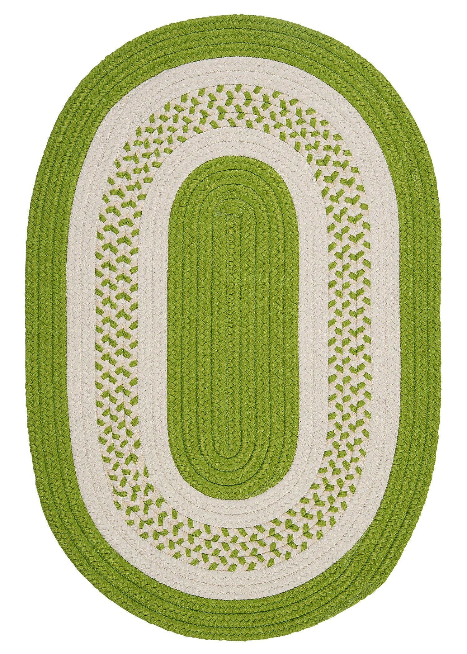 Rockport Bright Green Indoor/Outdoor Rug Rug Size: Oval 7' x 9'